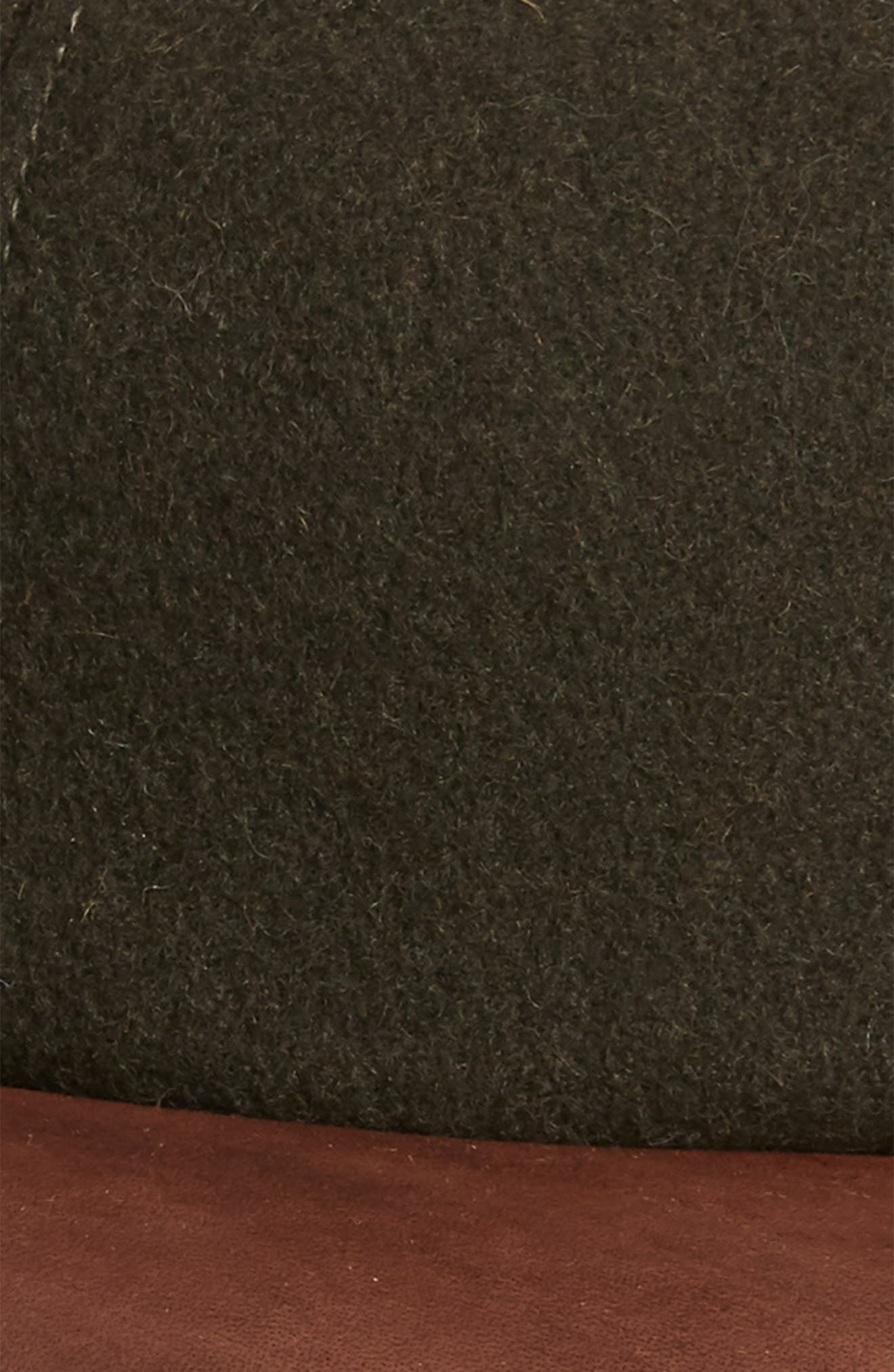 Melton Wool Blend Baseball Cap,                             Alternate thumbnail 3, color,                             LODEN