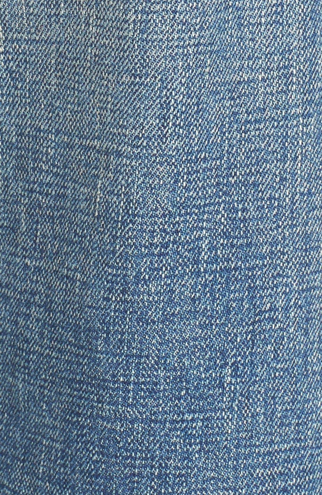 Imitation Pearl Embellished Jeans,                             Alternate thumbnail 3, color,                             101