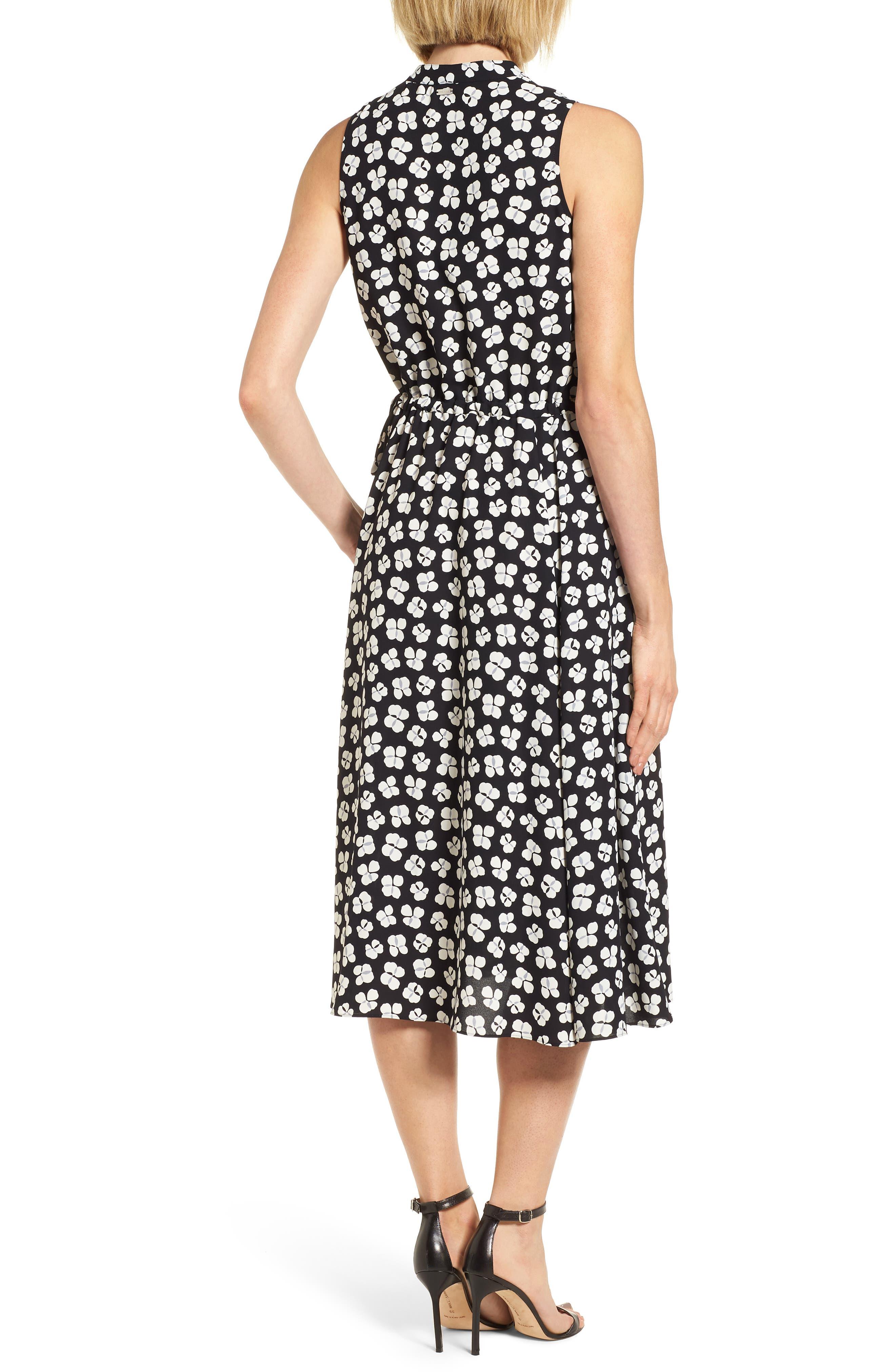 Zuma Petal Drawstring Midi Dress,                             Alternate thumbnail 2, color,                             001