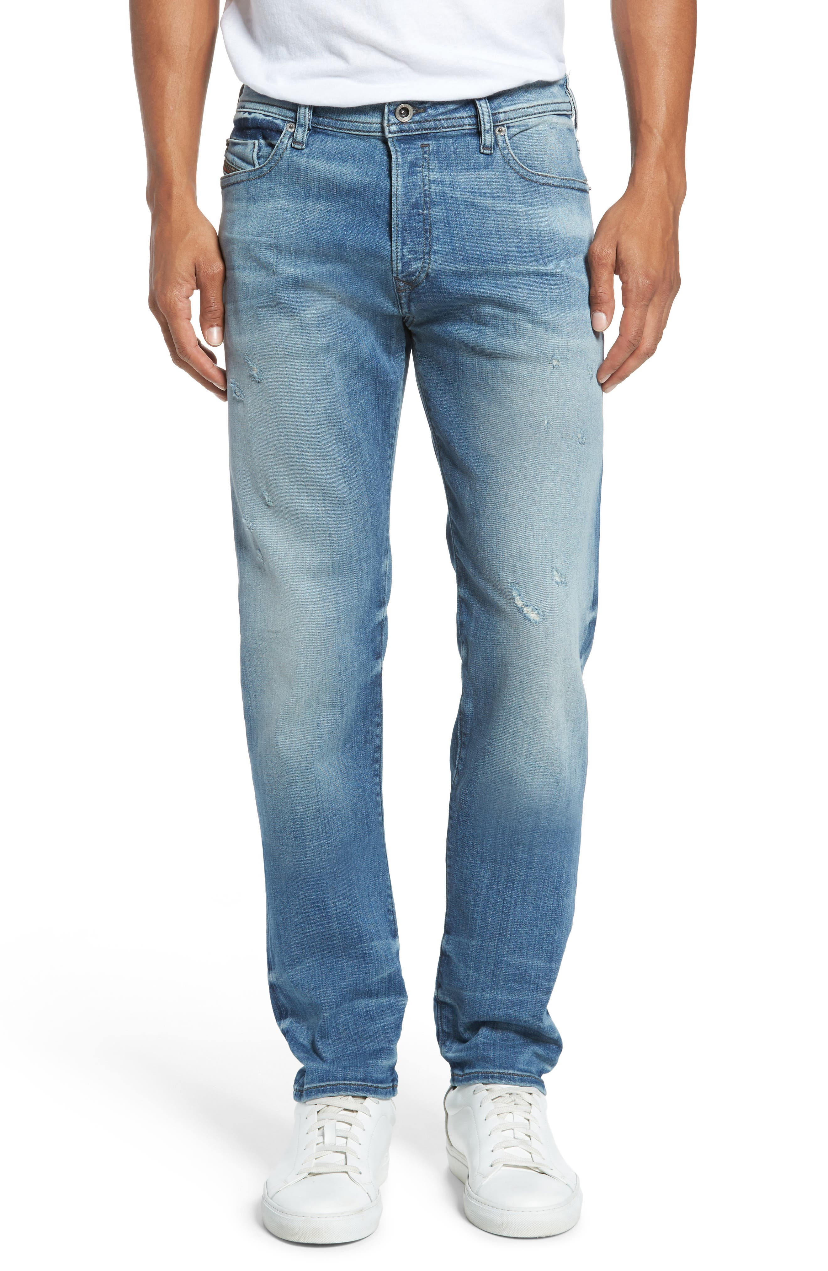 'Buster' Slim Straight Fit Jeans,                             Alternate thumbnail 2, color,                             400