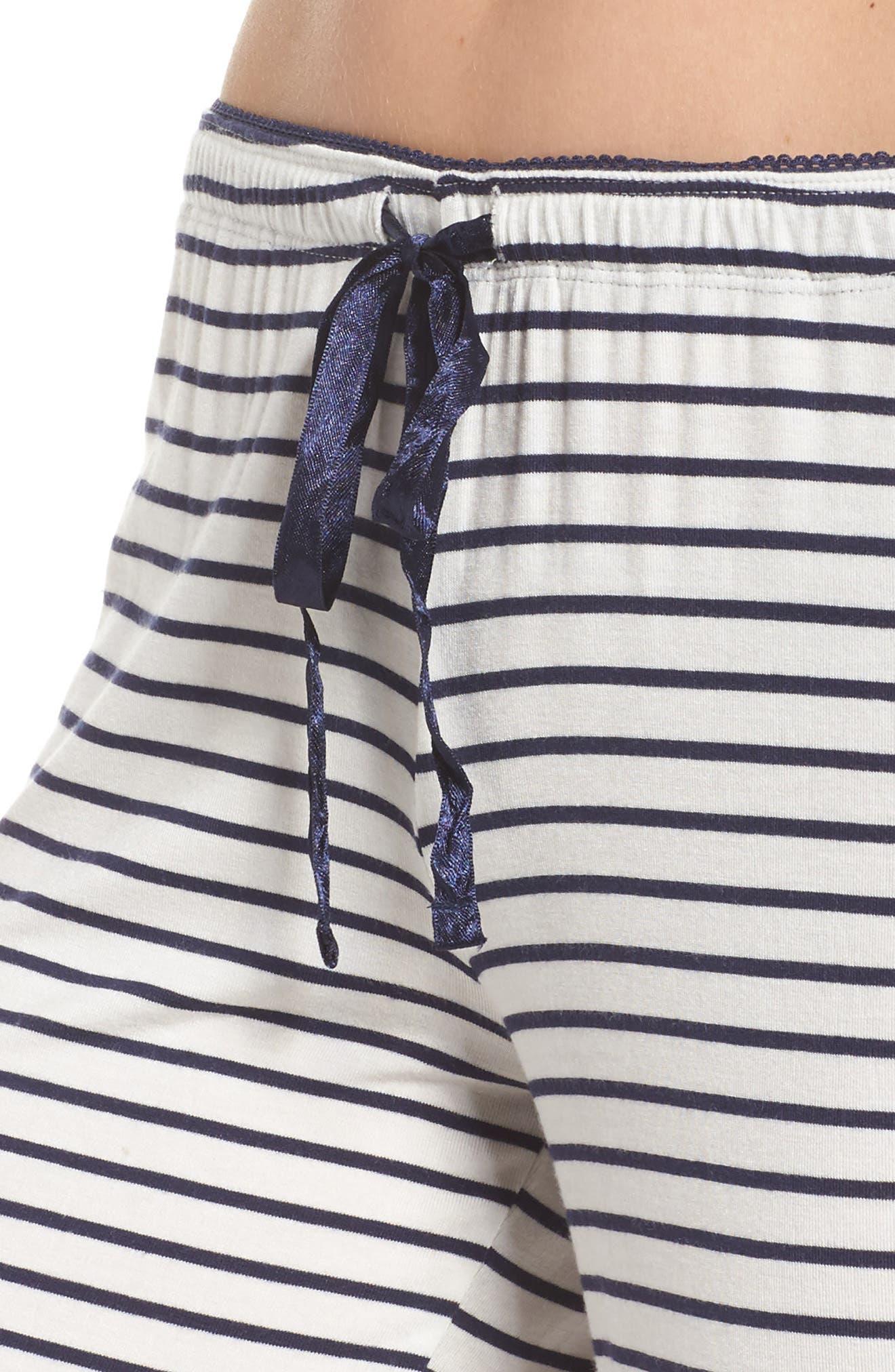 Stripe Pajama Pants,                             Alternate thumbnail 4, color,                             900
