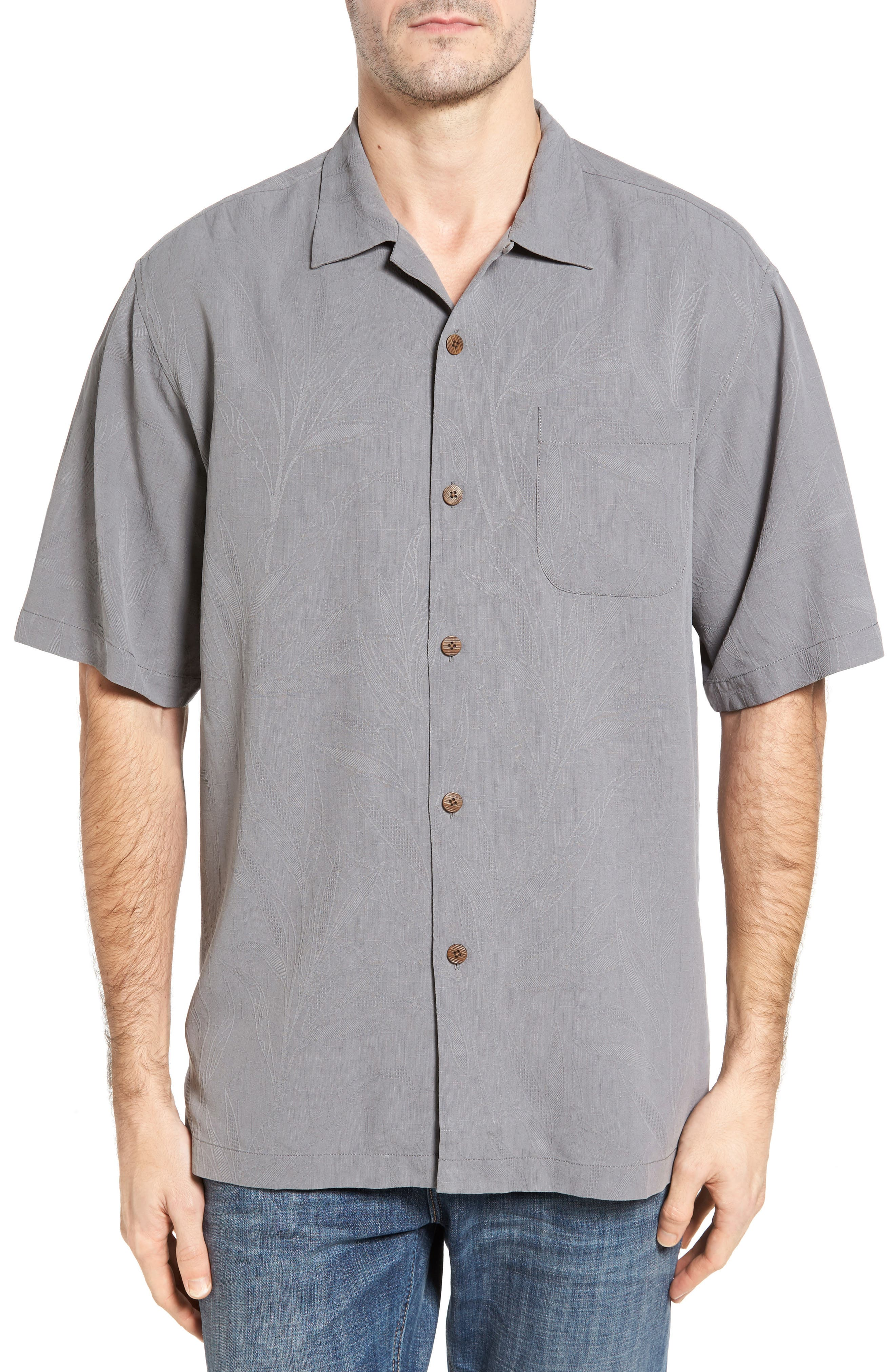 Islander Fronds Silk Camp Shirt,                             Main thumbnail 2, color,