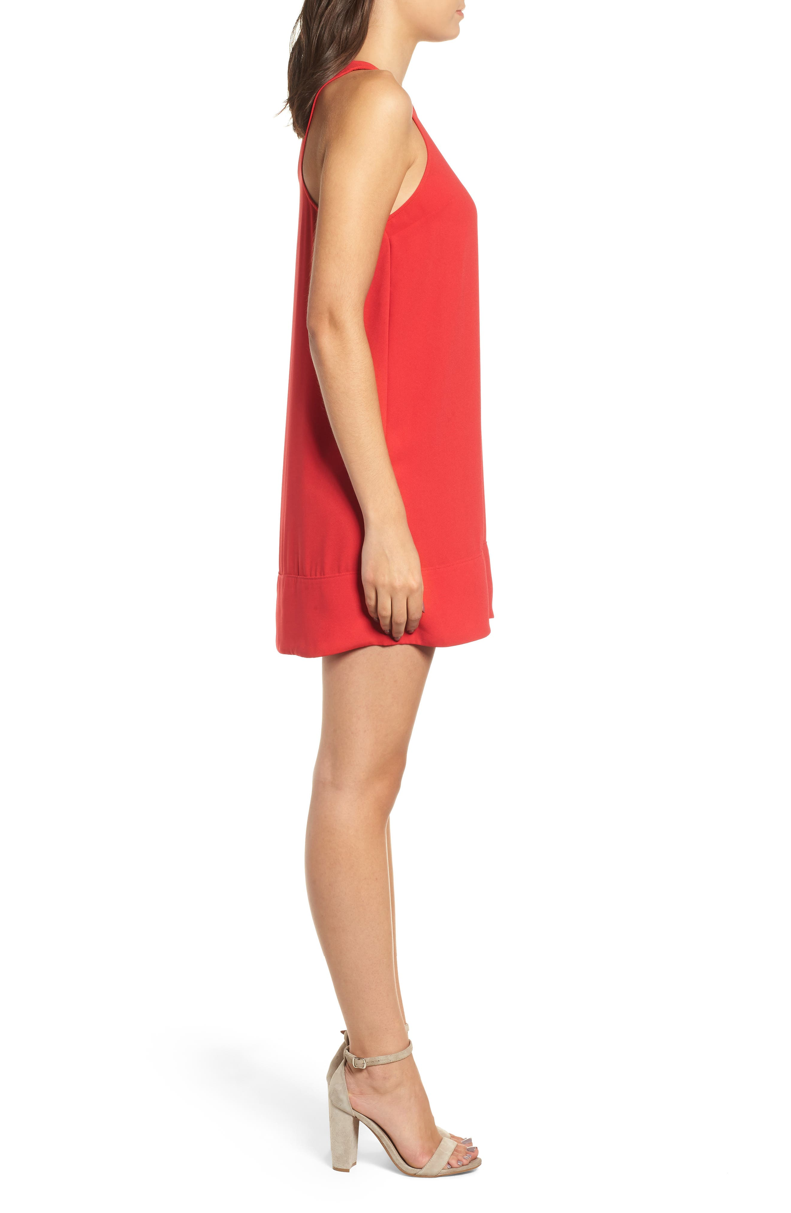 Racerback Shift Dress,                             Alternate thumbnail 100, color,