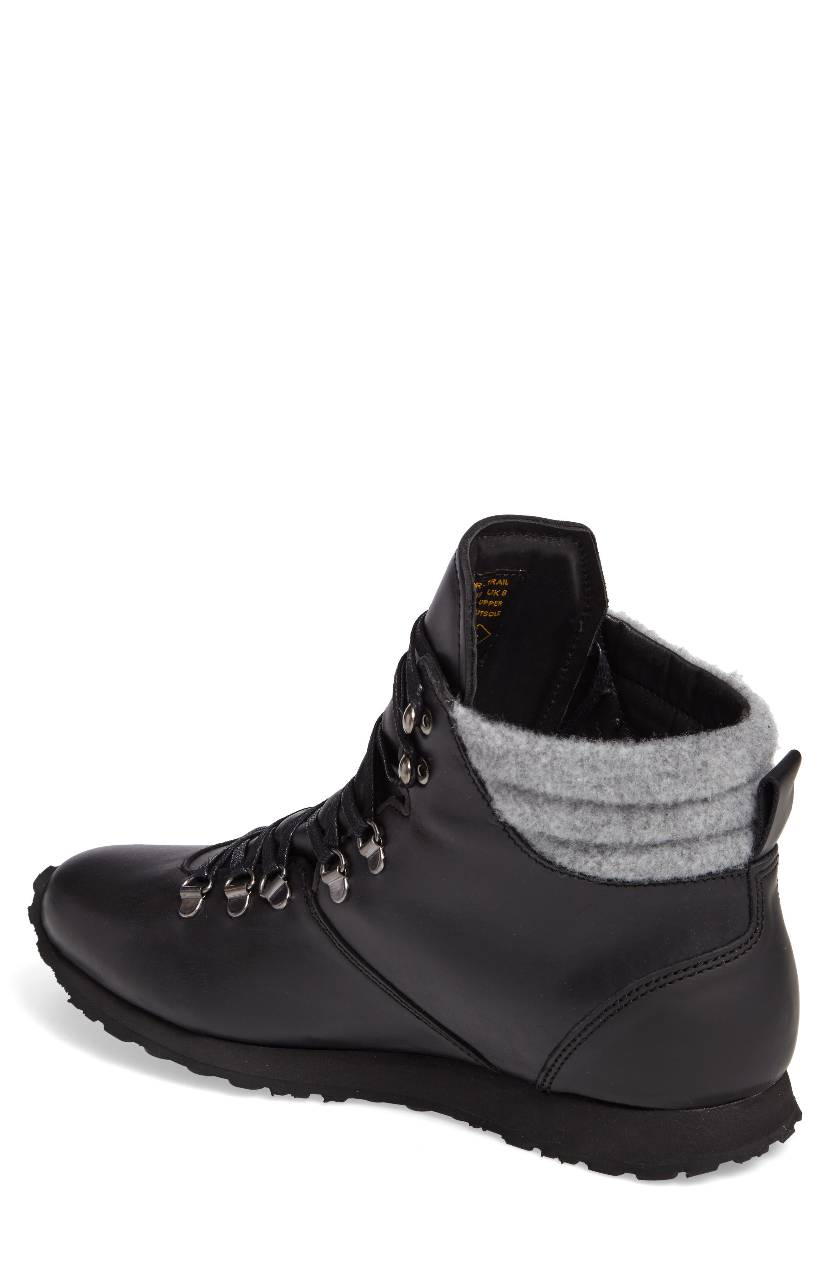 Concord Mid Top Wool Cuffed Waterproof Boot,                             Alternate thumbnail 2, color,                             001