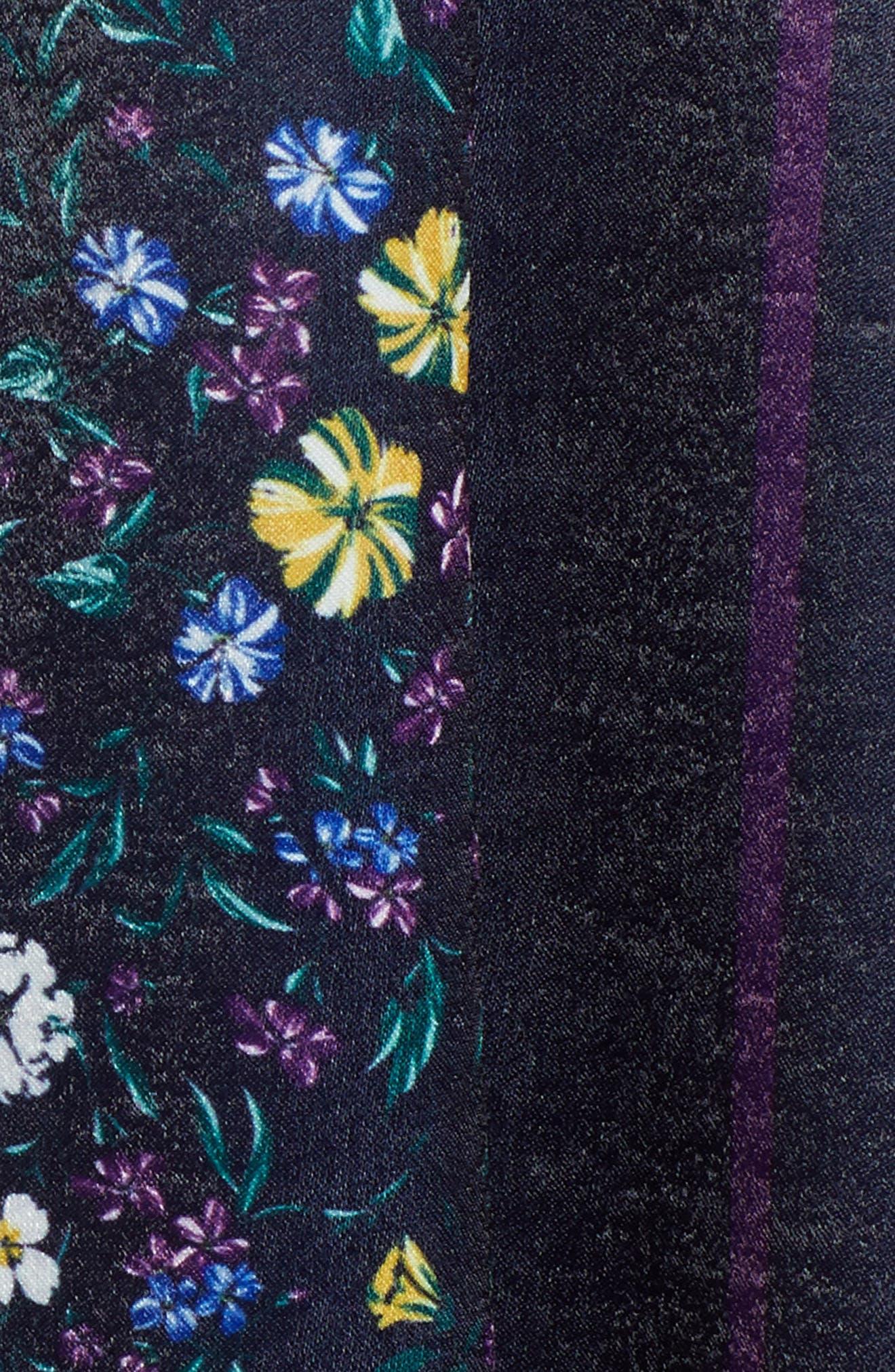 Print Satin Dress,                             Alternate thumbnail 6, color,                             410