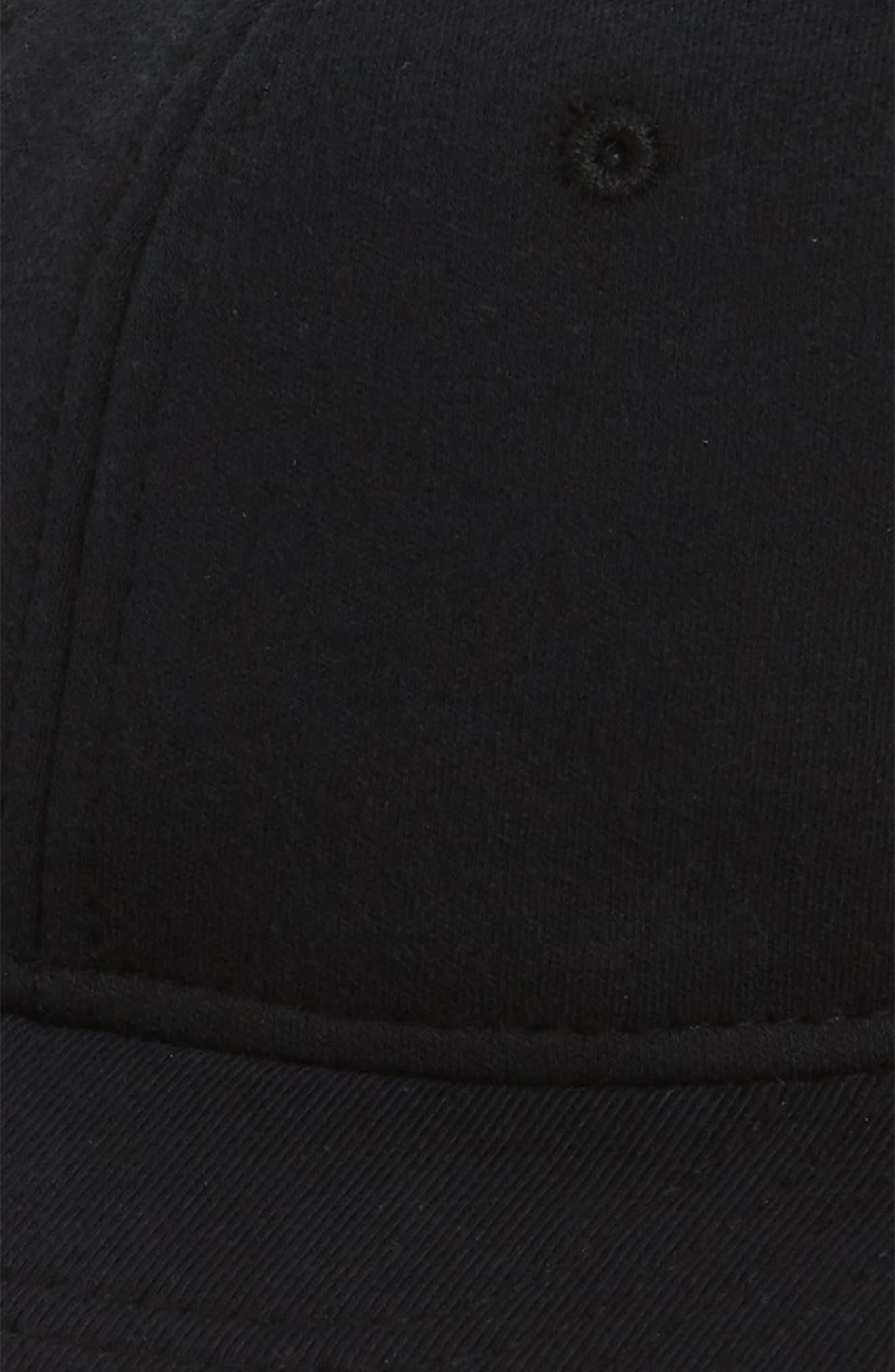 Terry Ball Cap,                             Alternate thumbnail 3, color,                             BLACK