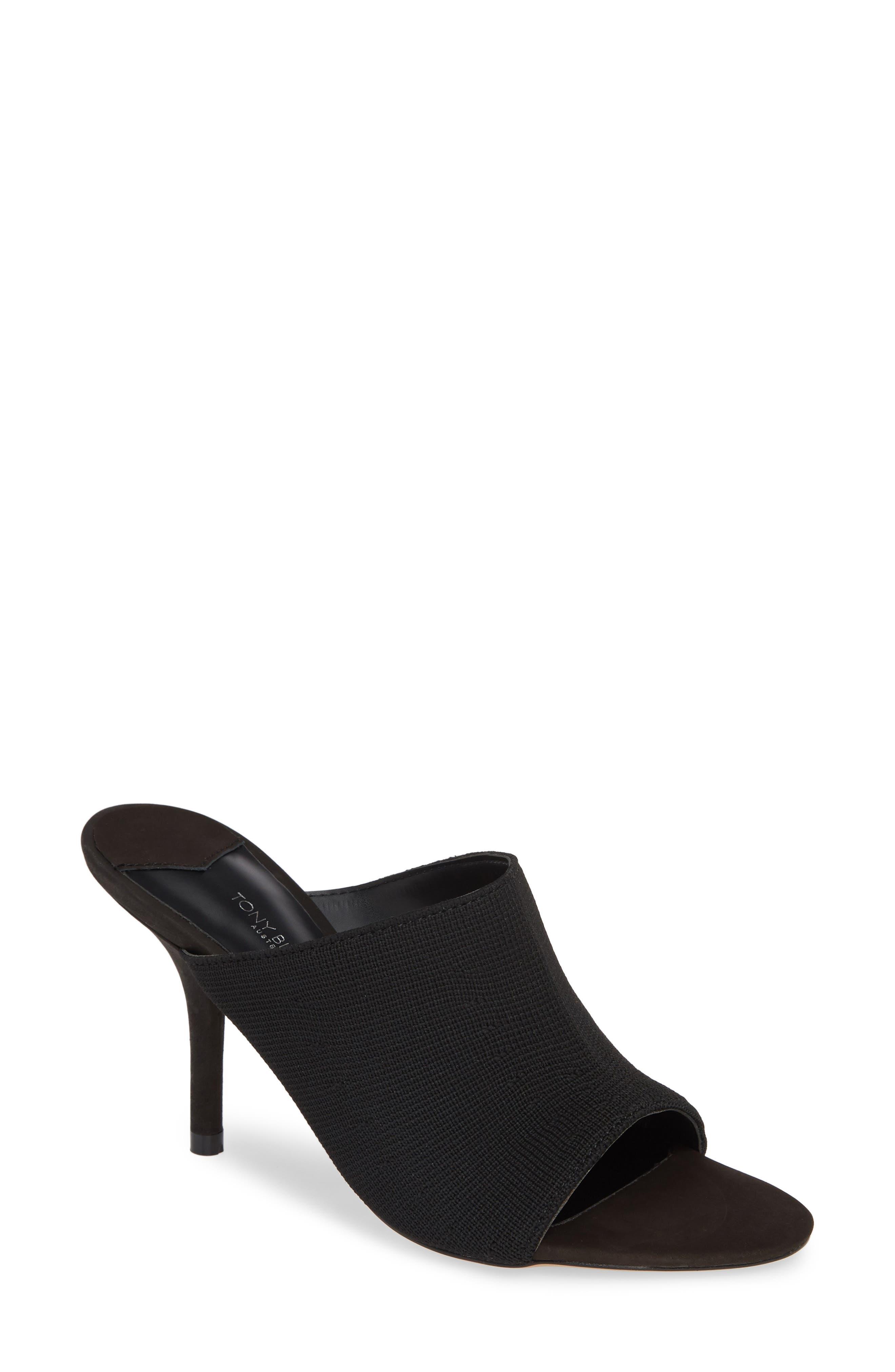 Inca Slide Sandal,                         Main,                         color, BLACK BORDEAUX FABRIC