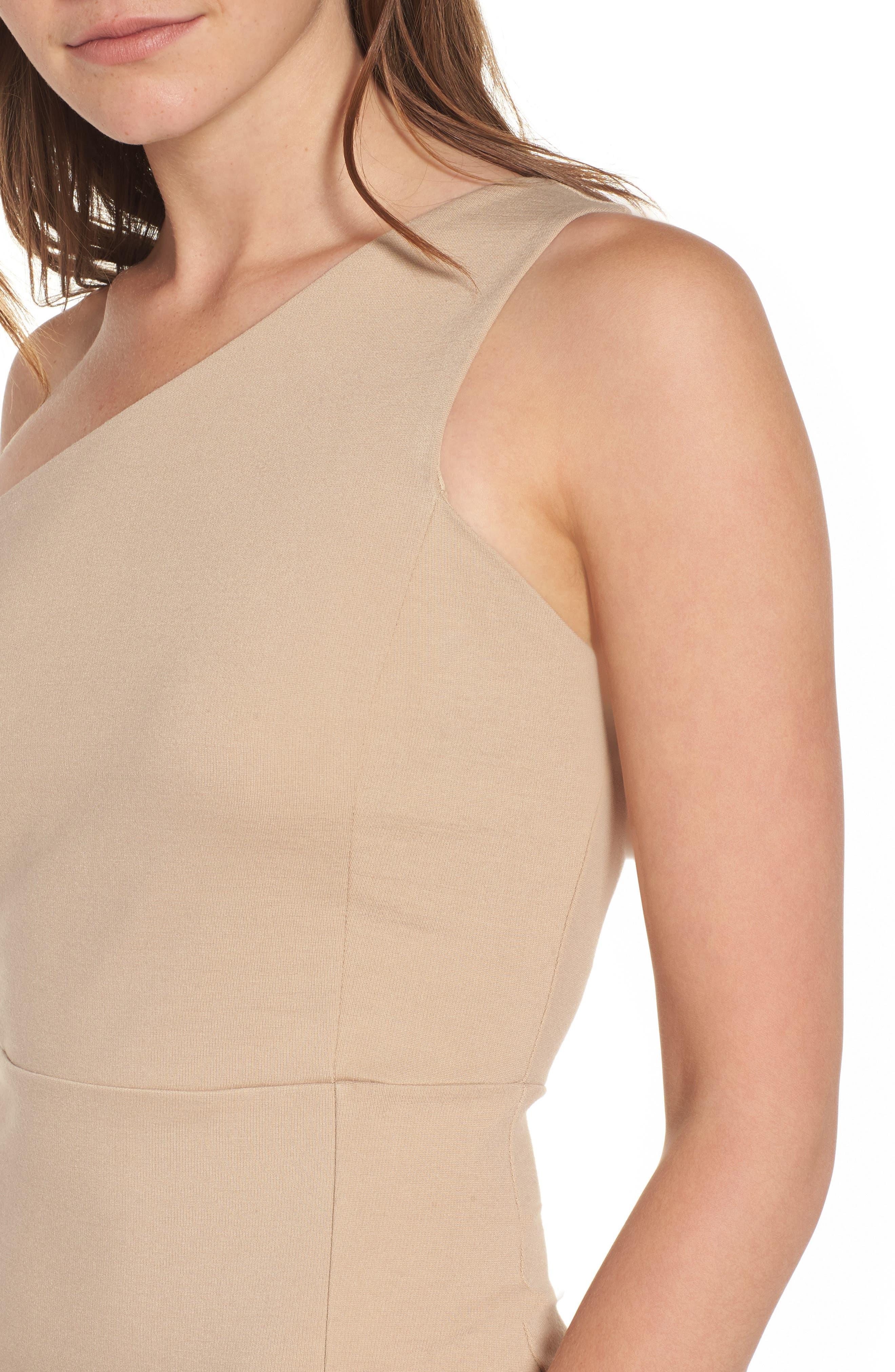 One-Shoulder Body-Con Dress,                             Alternate thumbnail 11, color,