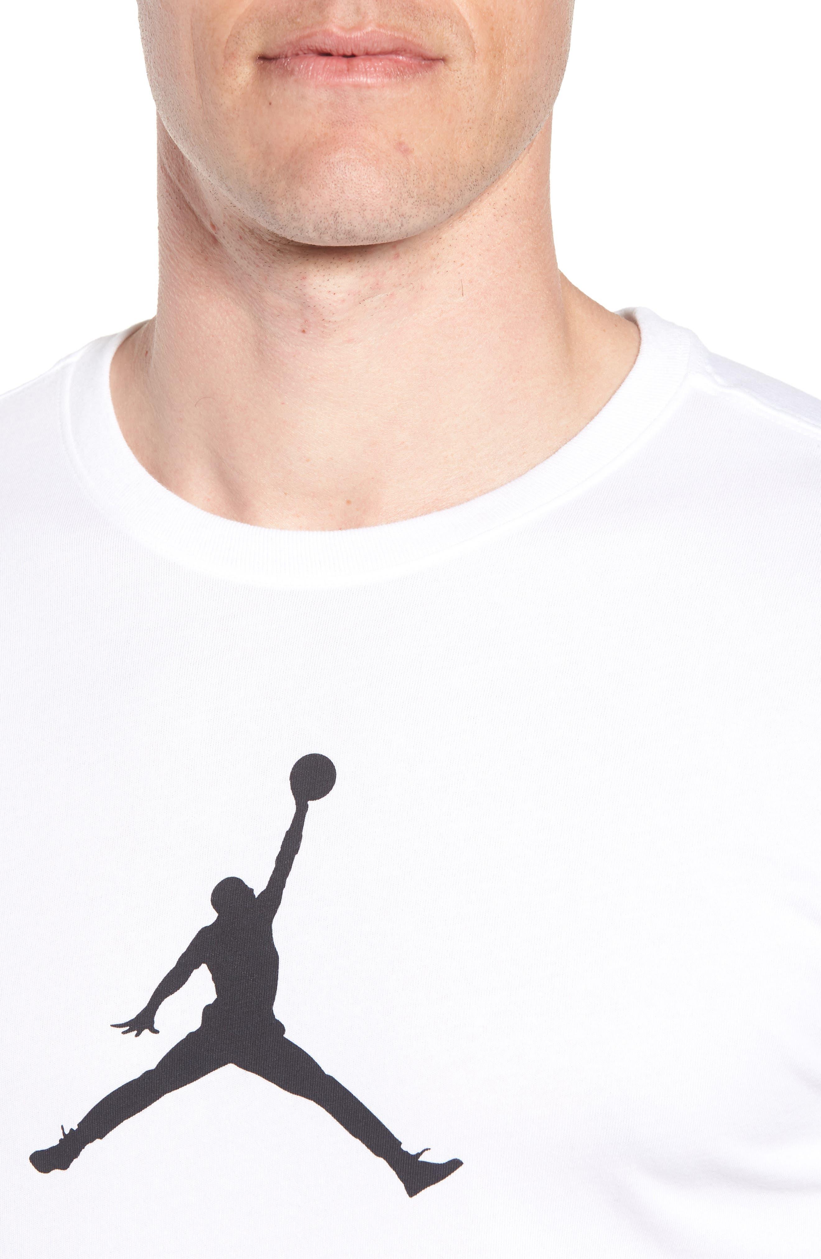 Iconic Jumpman Graphic T-Shirt,                             Alternate thumbnail 8, color,