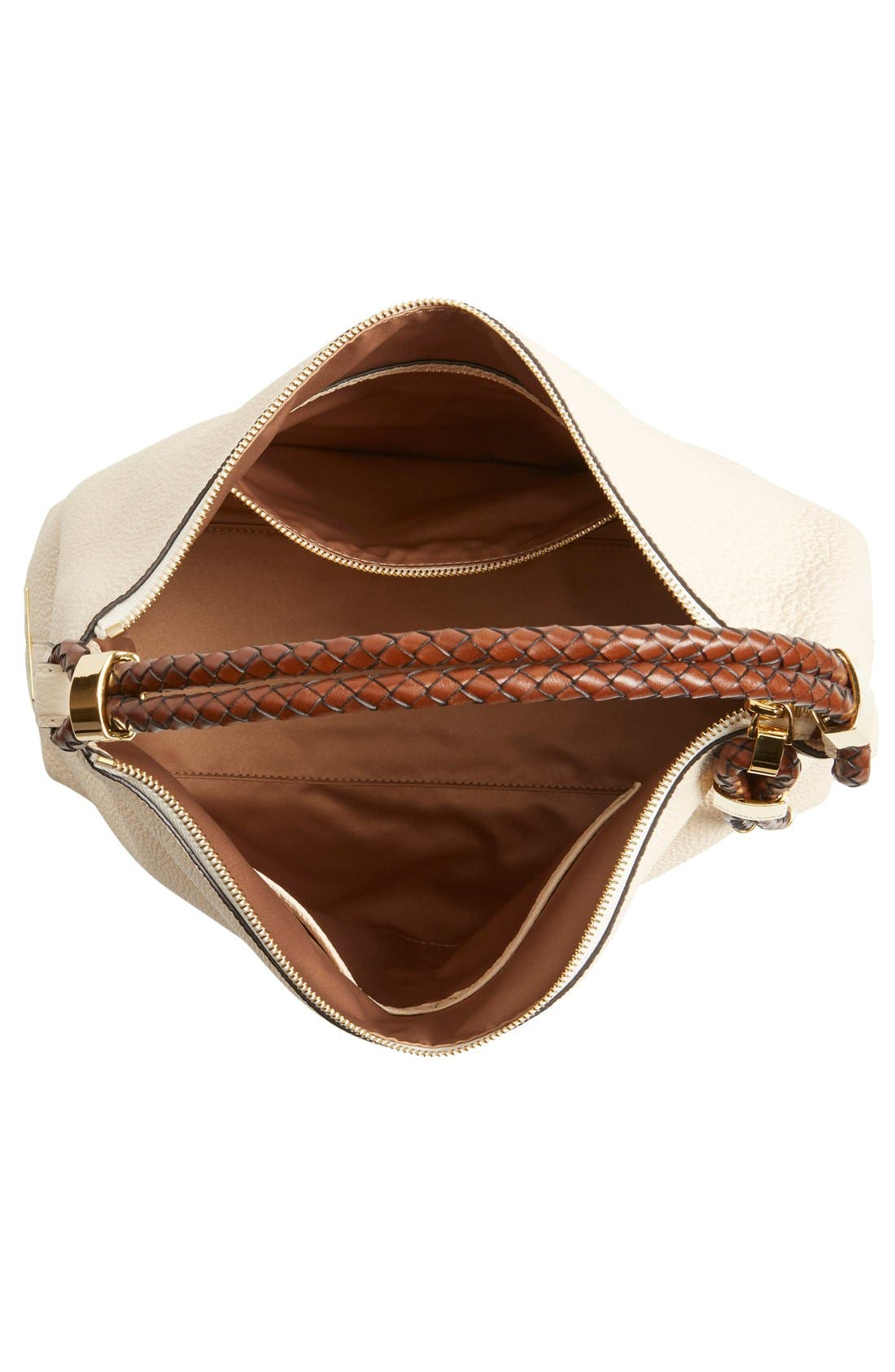 'Large Skorpios' Leather Hobo,                             Alternate thumbnail 4, color,                             100