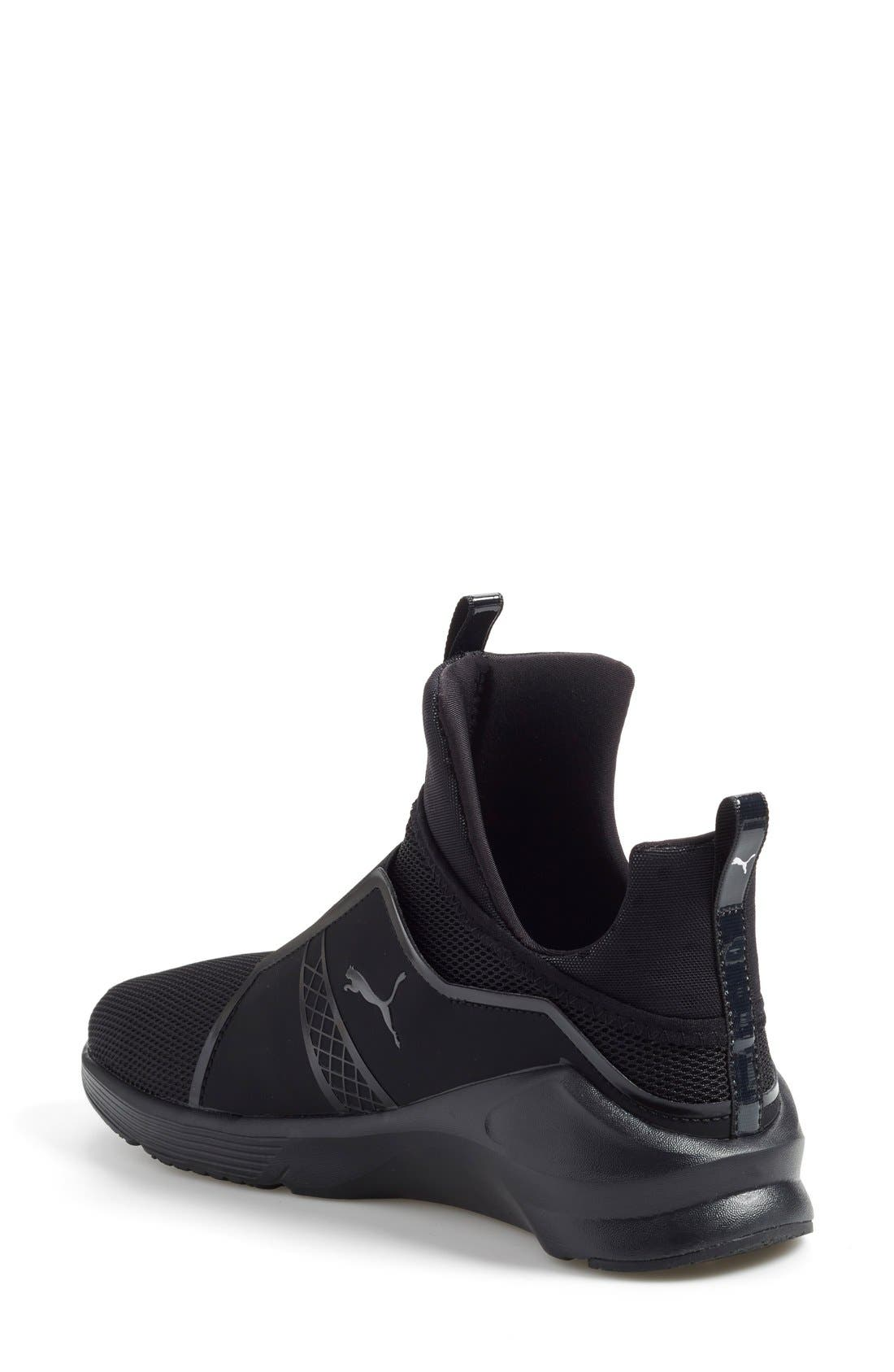 'Fierce Core' High Top Sneaker,                             Alternate thumbnail 2, color,                             001