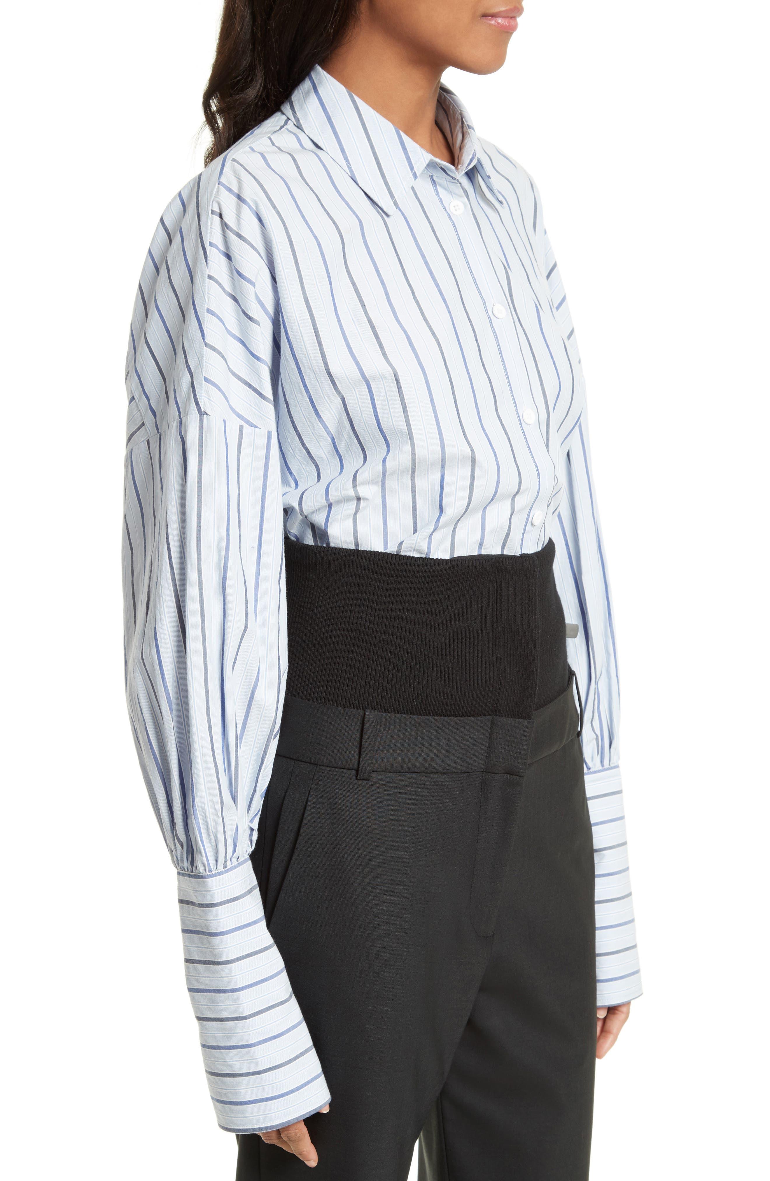 Garçon Stripe Easy Shirt,                             Alternate thumbnail 3, color,                             402