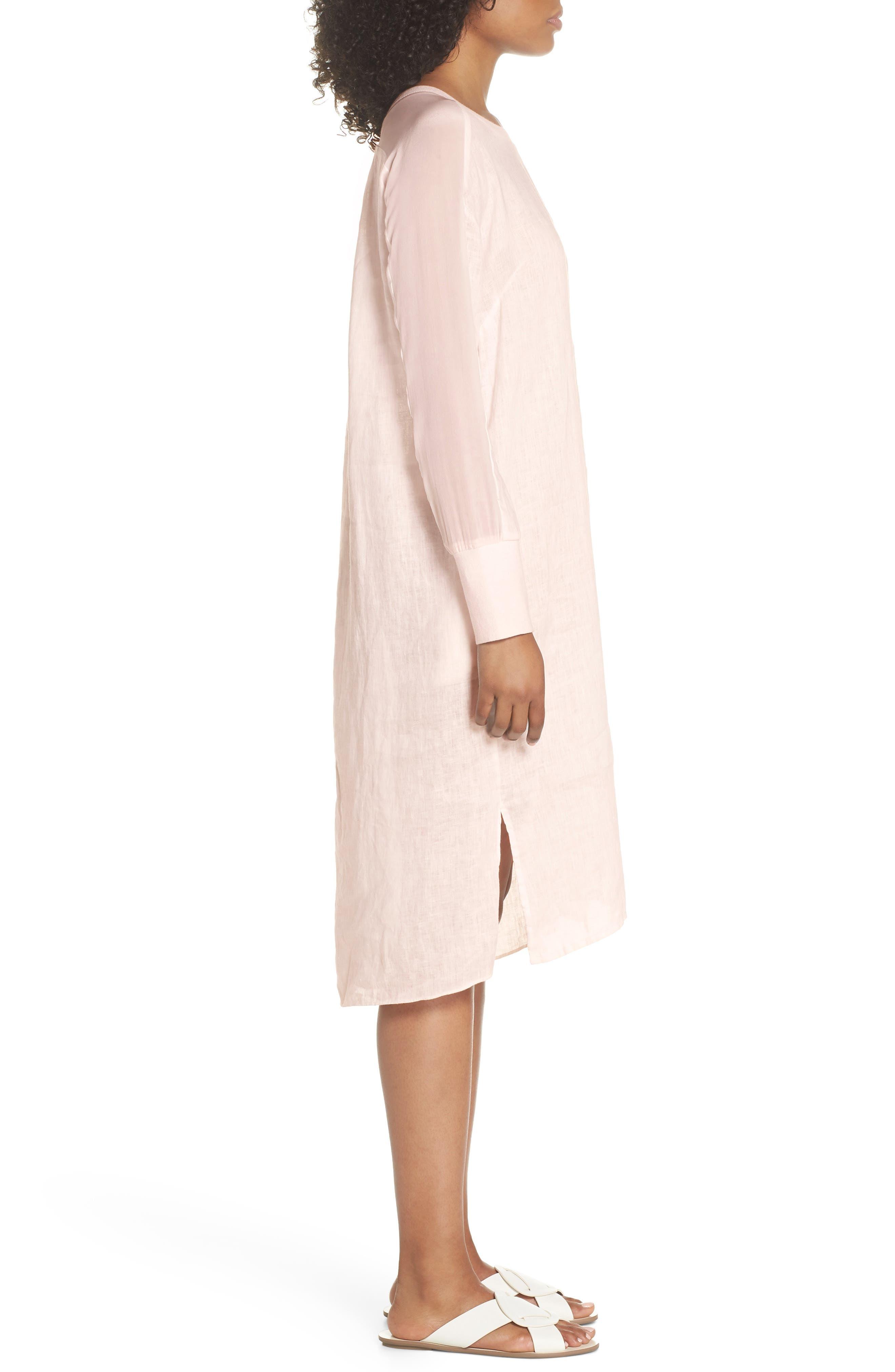 Rata Linen Shift Dress,                             Alternate thumbnail 3, color,                             680