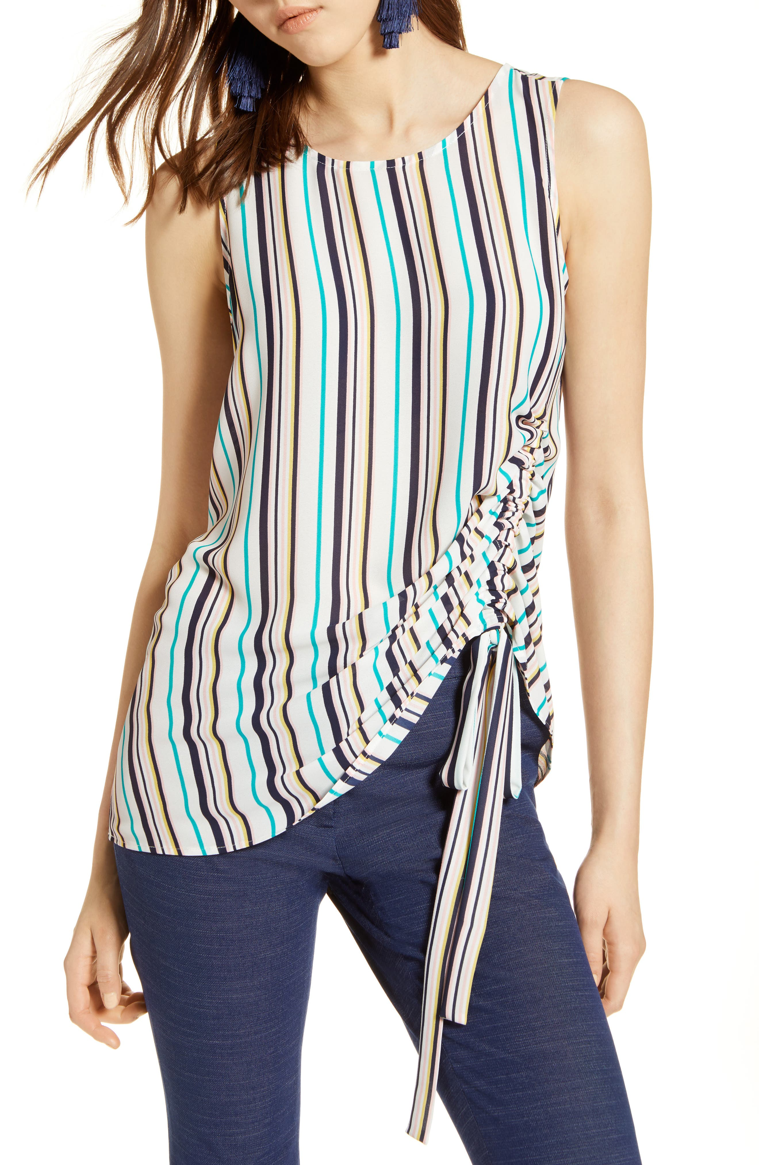 Side Ruched Top,                             Main thumbnail 2, color,