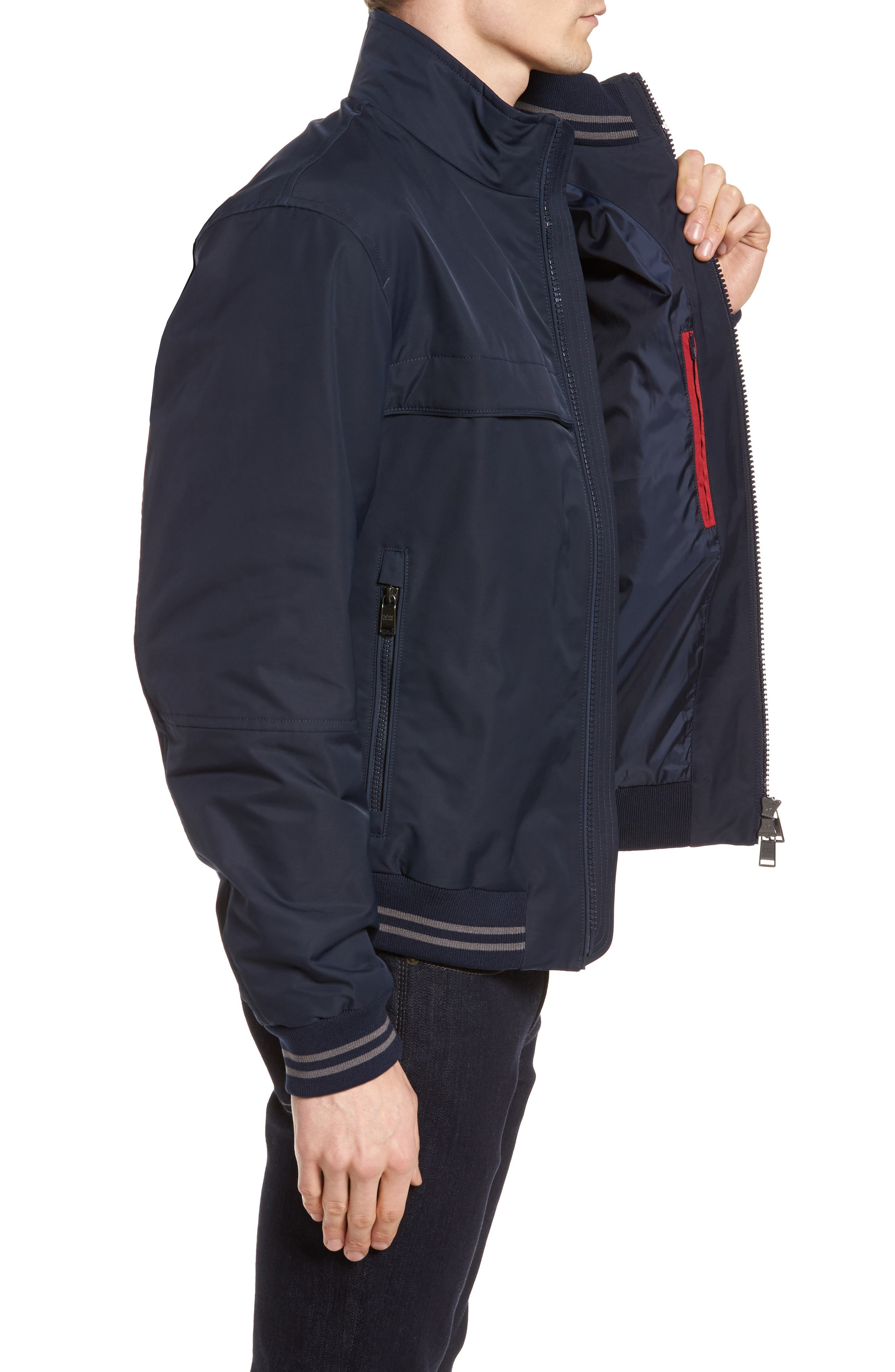 Cossito Regular Fit Bomber Jacket,                             Alternate thumbnail 3, color,                             410