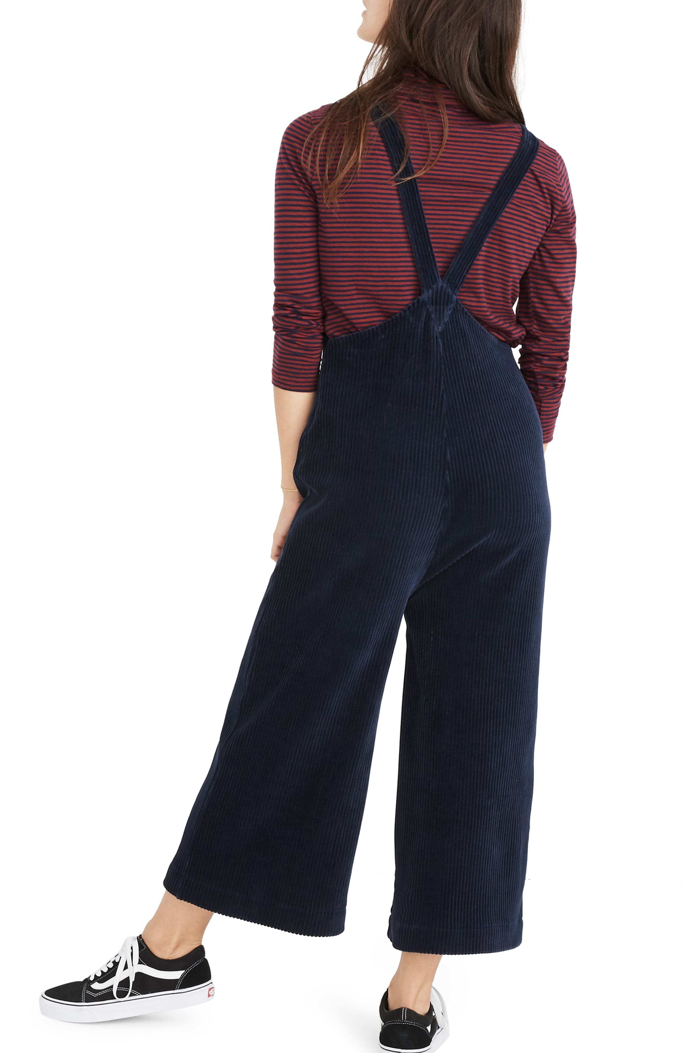 MADEWELL,                             Texture & Thread Velour Corduroy Overalls,                             Alternate thumbnail 2, color,                             400