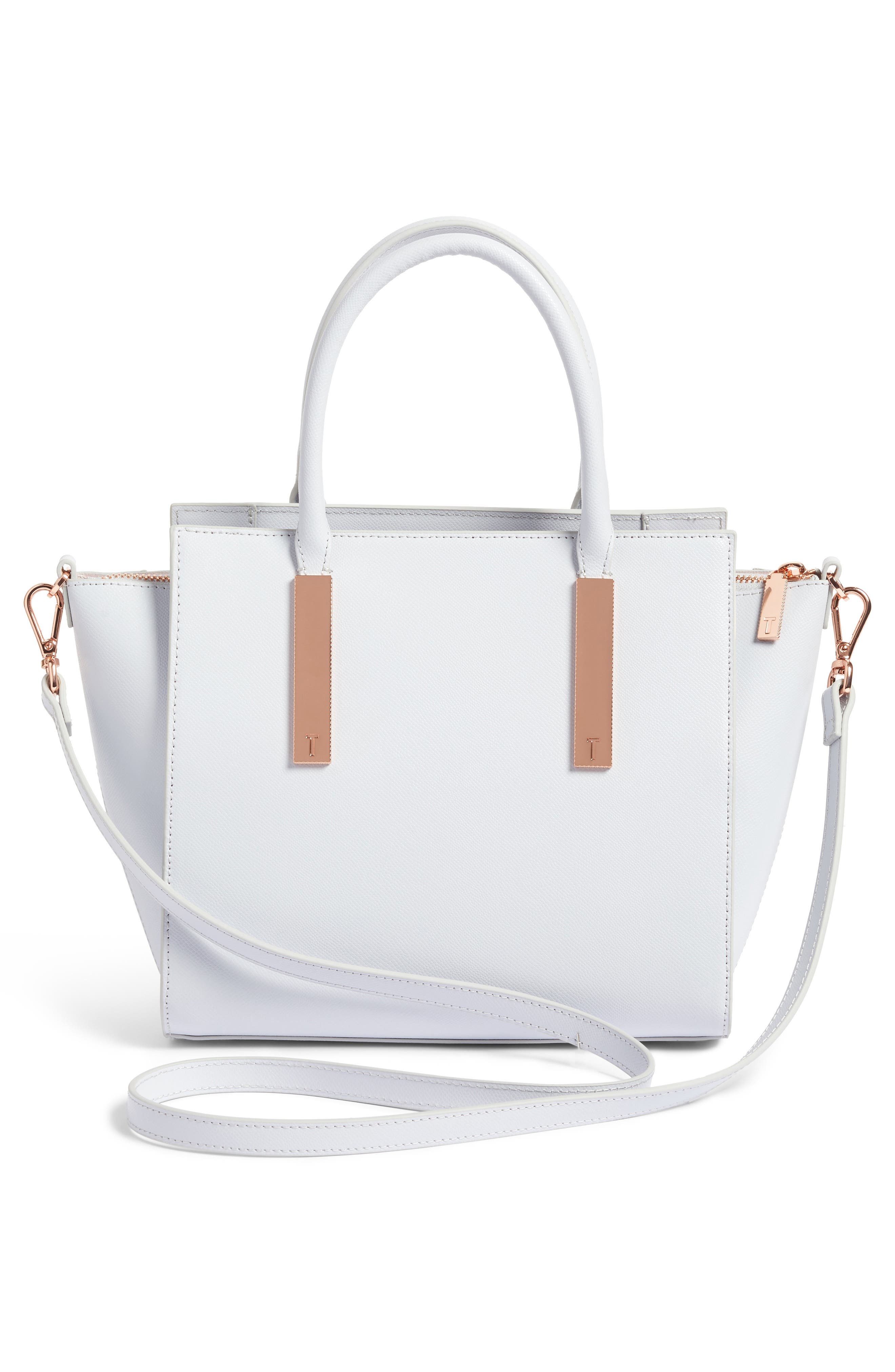 Blossom Leather Tote,                             Alternate thumbnail 3, color,                             020