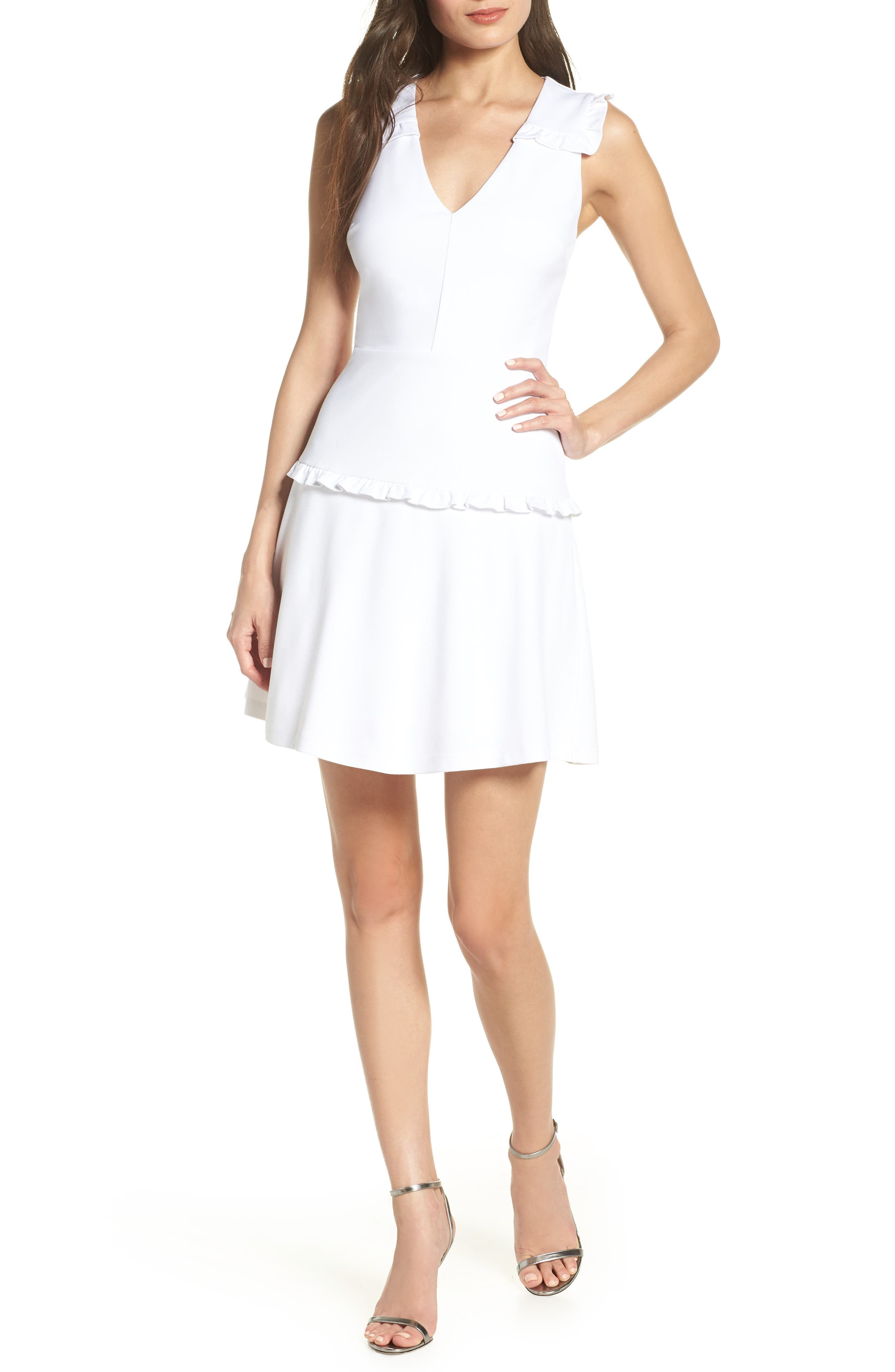 Ali & Jay Work It Own It Fit & Flare Dress, White