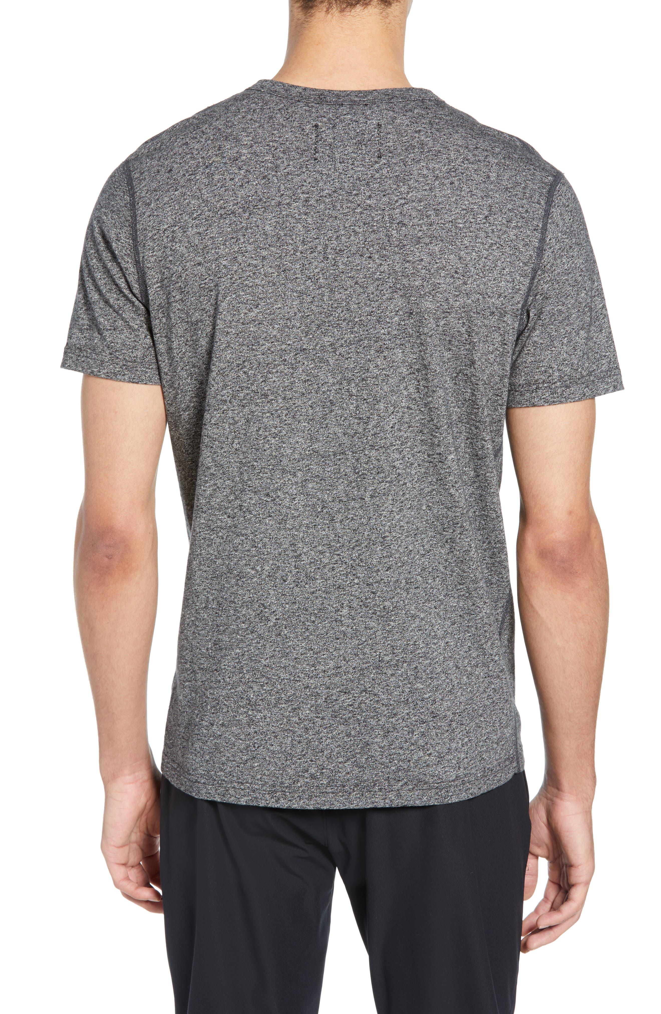 REIGNING CHAMP,                             Short Sleeve Crewneck T-Shirt,                             Alternate thumbnail 2, color,                             MEDIUM BLACK