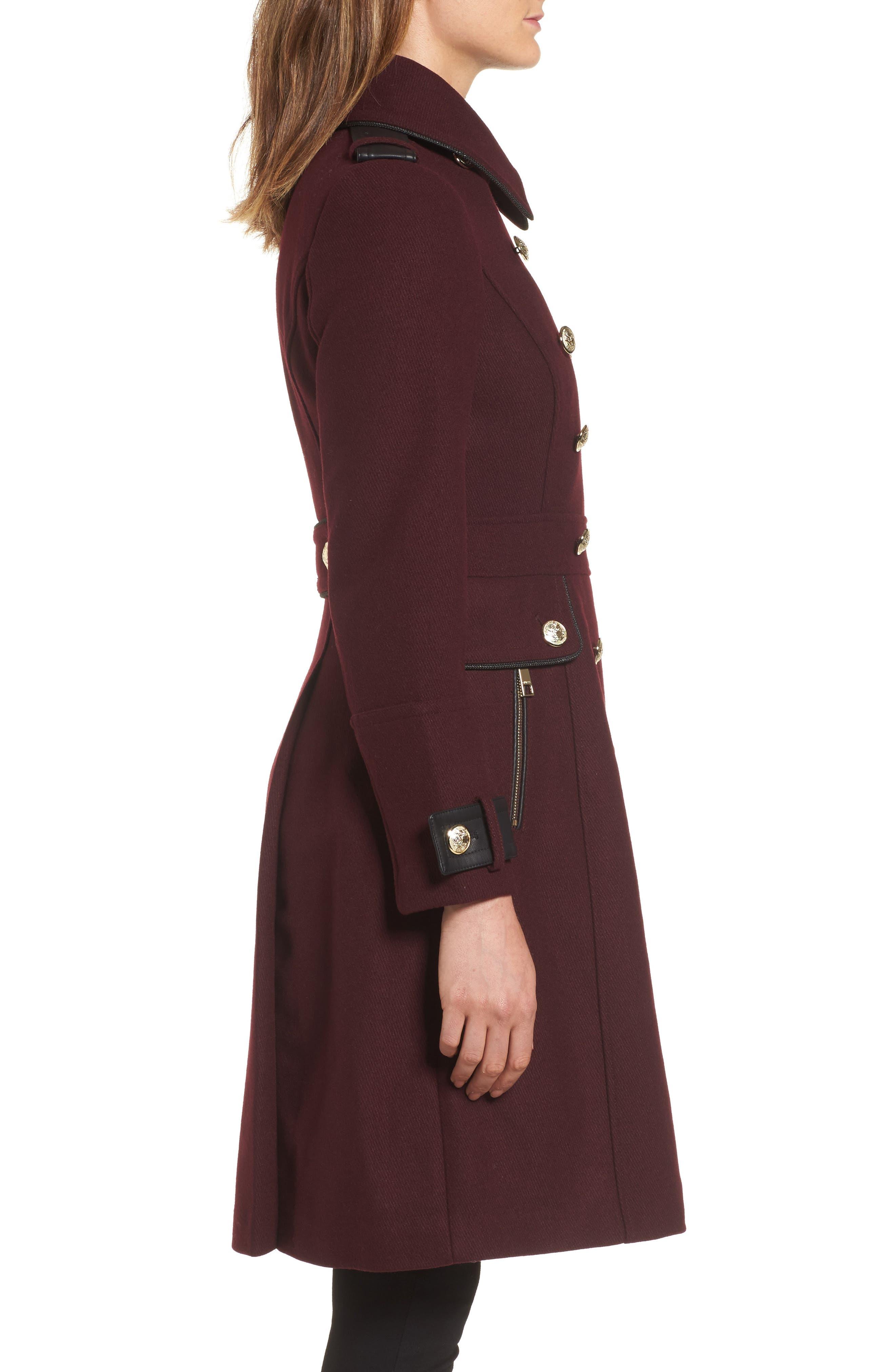 Wool Blend Military Coat,                             Alternate thumbnail 6, color,