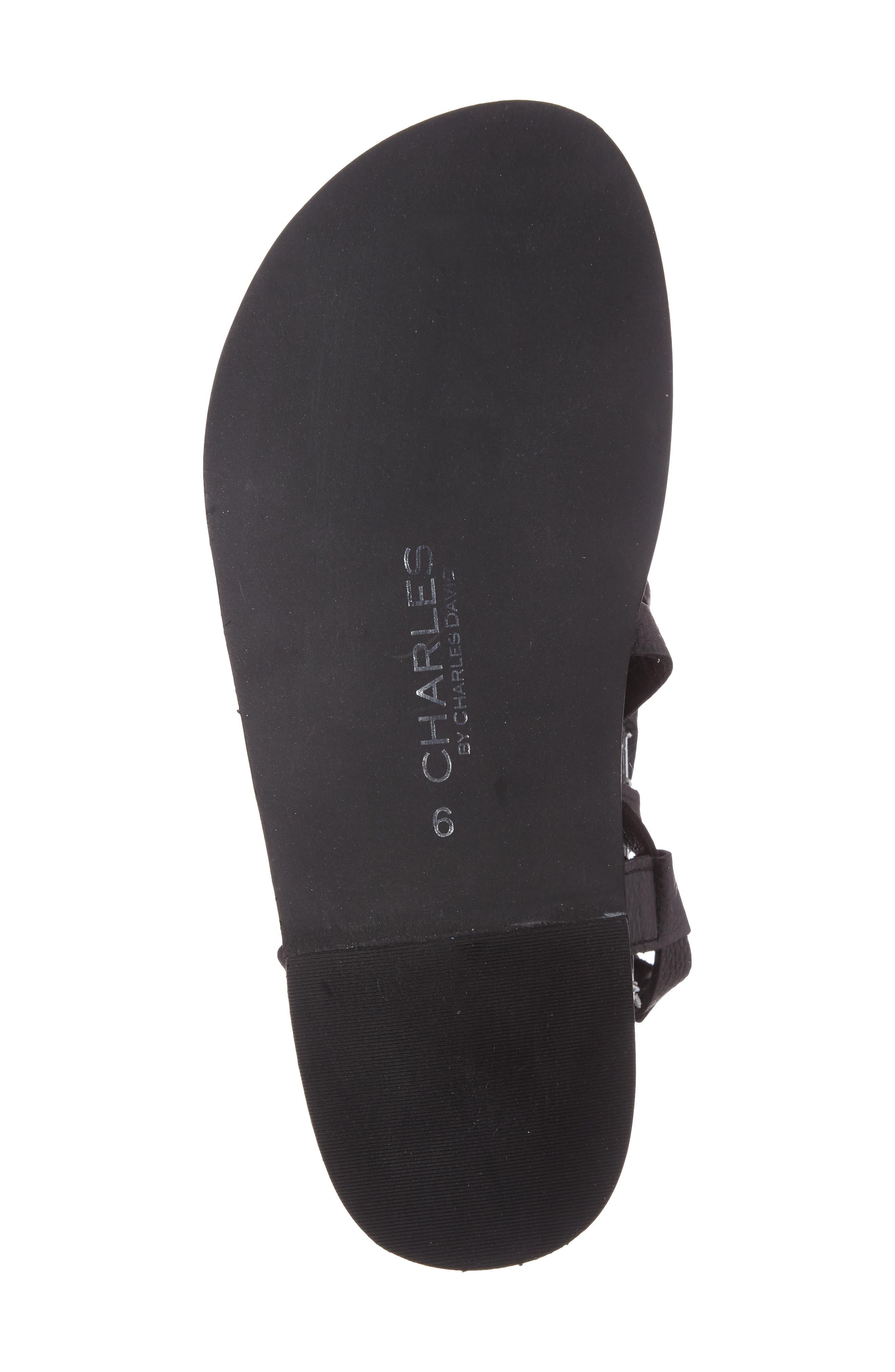 Steeler Ankle Wrap Sandal,                             Alternate thumbnail 4, color,                             001