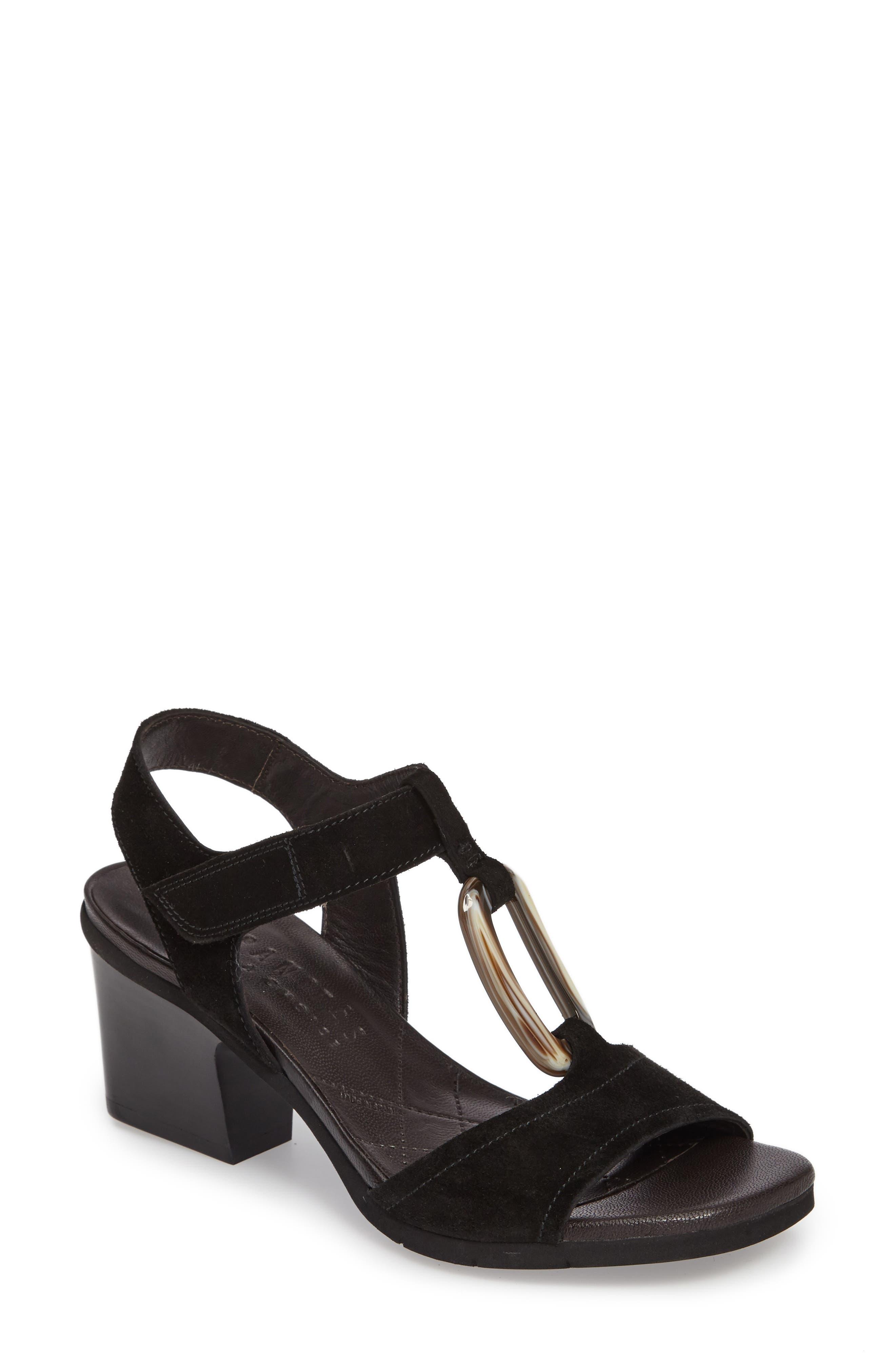 Ursula Ringed T-Strap Sandal,                         Main,                         color, 001