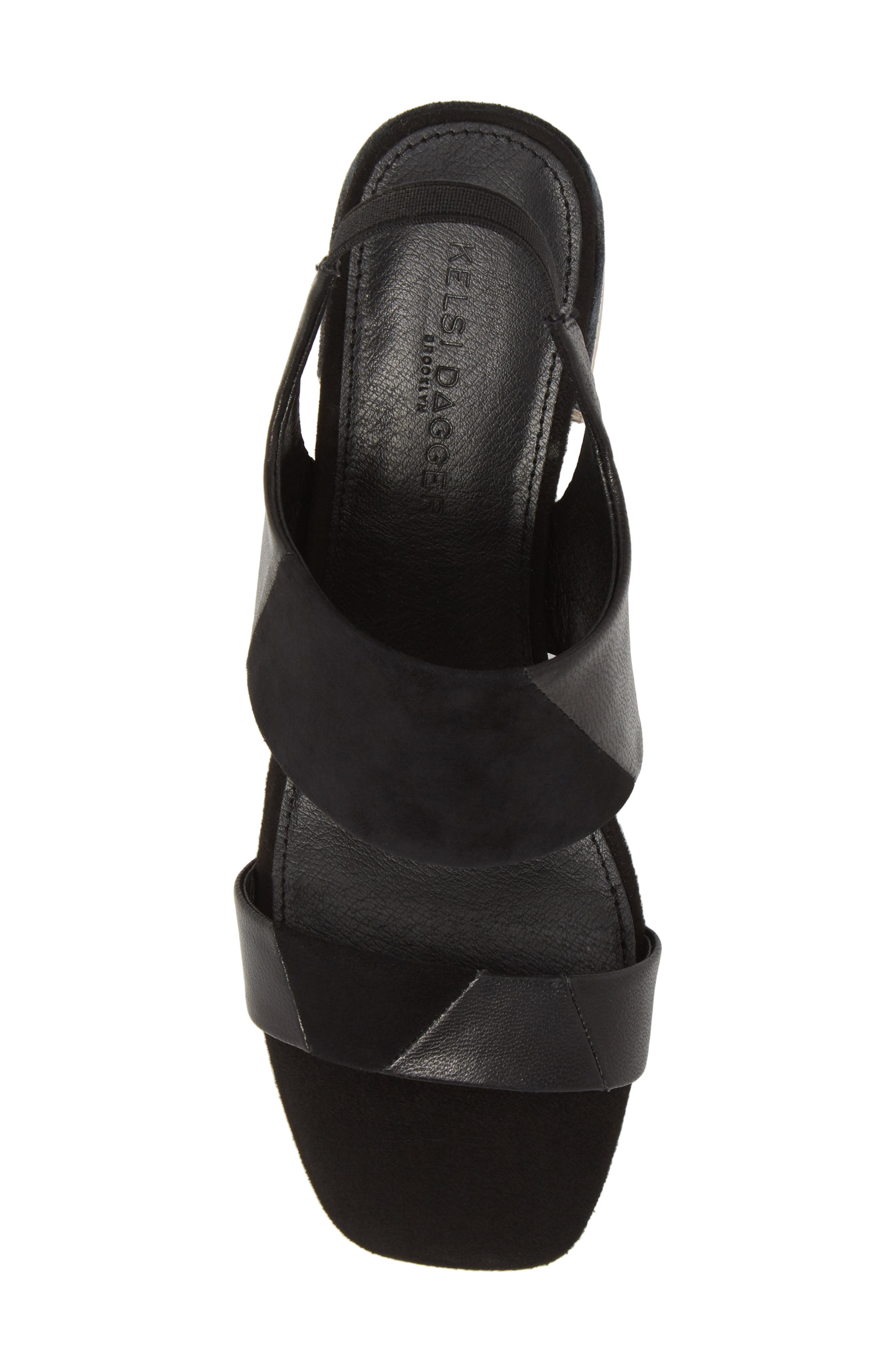 Shiloh Block Heel Sandal,                             Alternate thumbnail 5, color,                             001