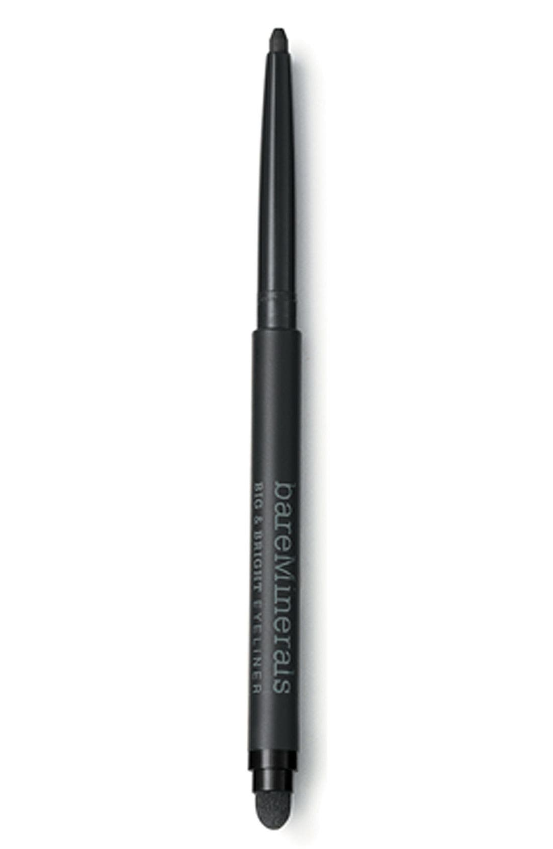 BAREMINERALS<SUP>®</SUP> Bare Escentuals<sup>®</sup> bareMinerals<sup>®</sup> 'Big & Bright' Eyeliner Pencil, Main, color, 001