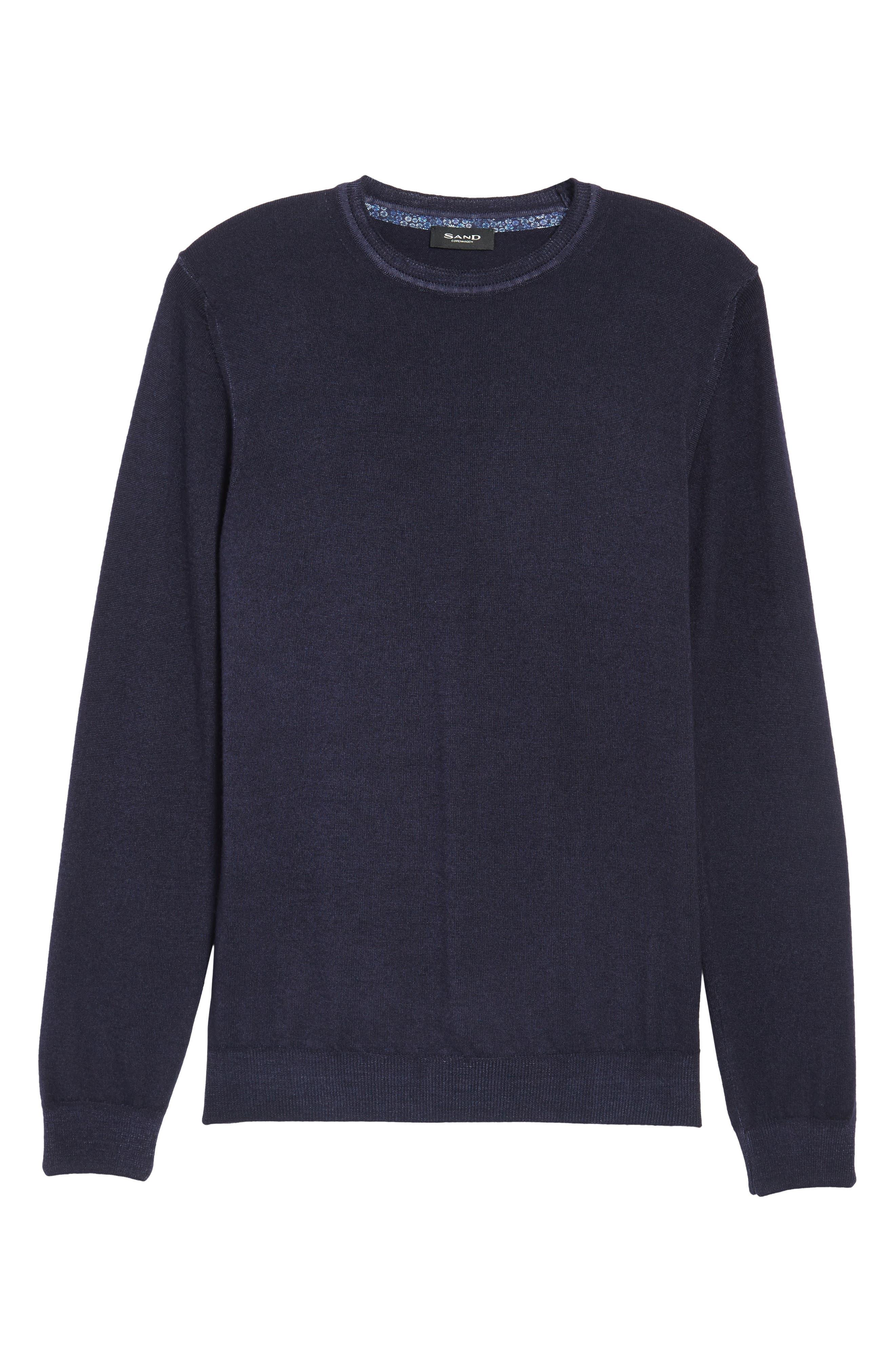 V-Neck Merino Wool Sweater,                             Alternate thumbnail 18, color,