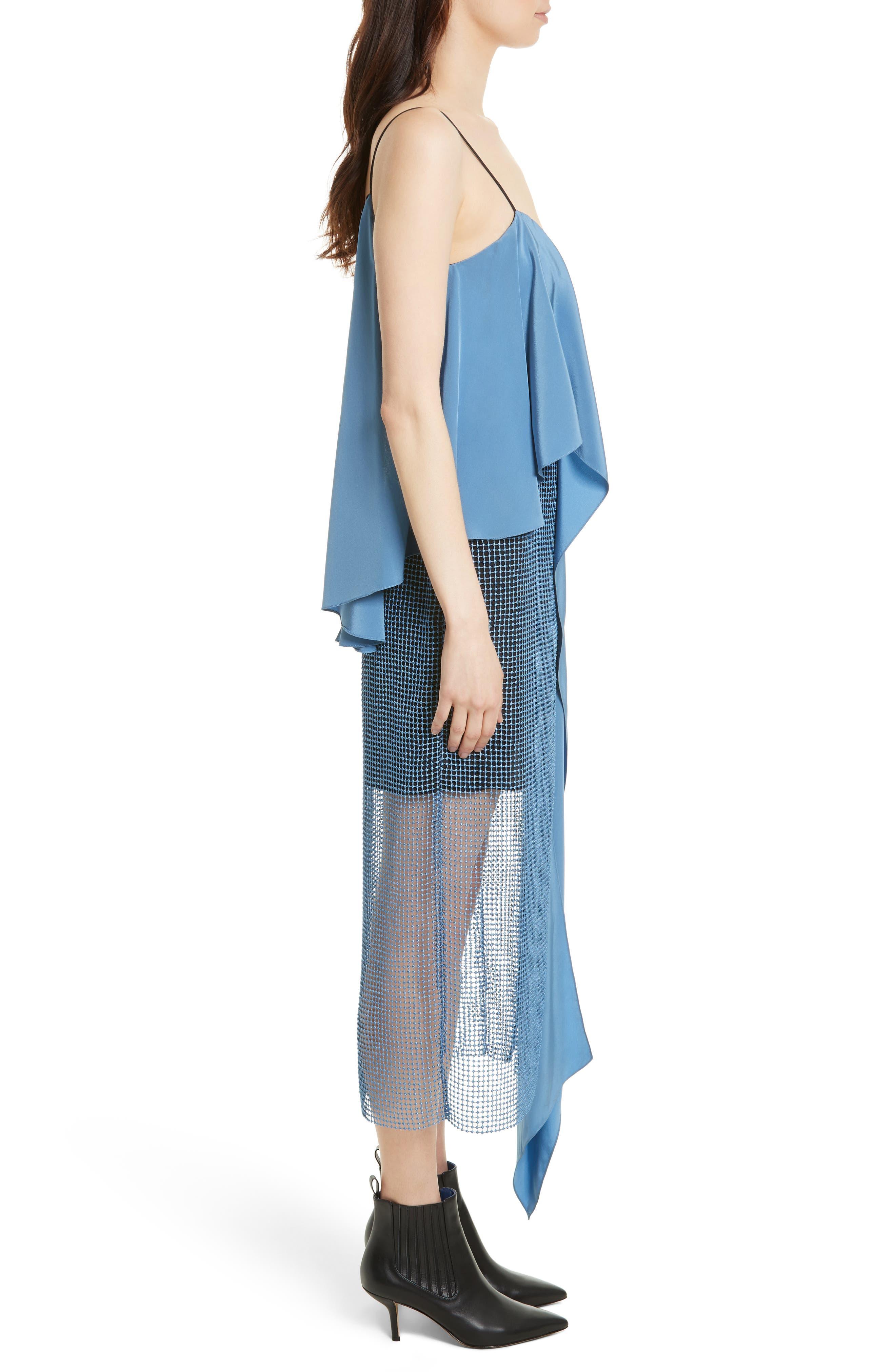 Asymmetrical Sash Dress,                             Alternate thumbnail 3, color,                             424
