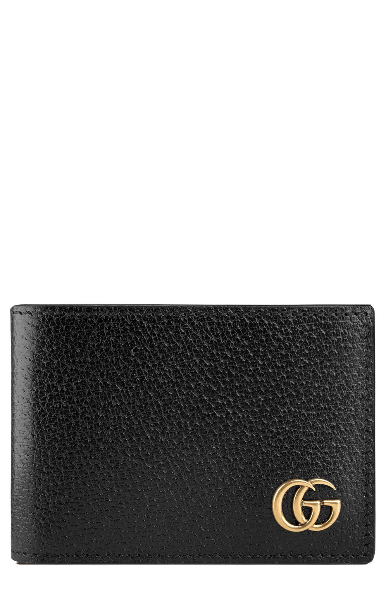 Marmont Leather Wallet,                             Alternate thumbnail 3, color,