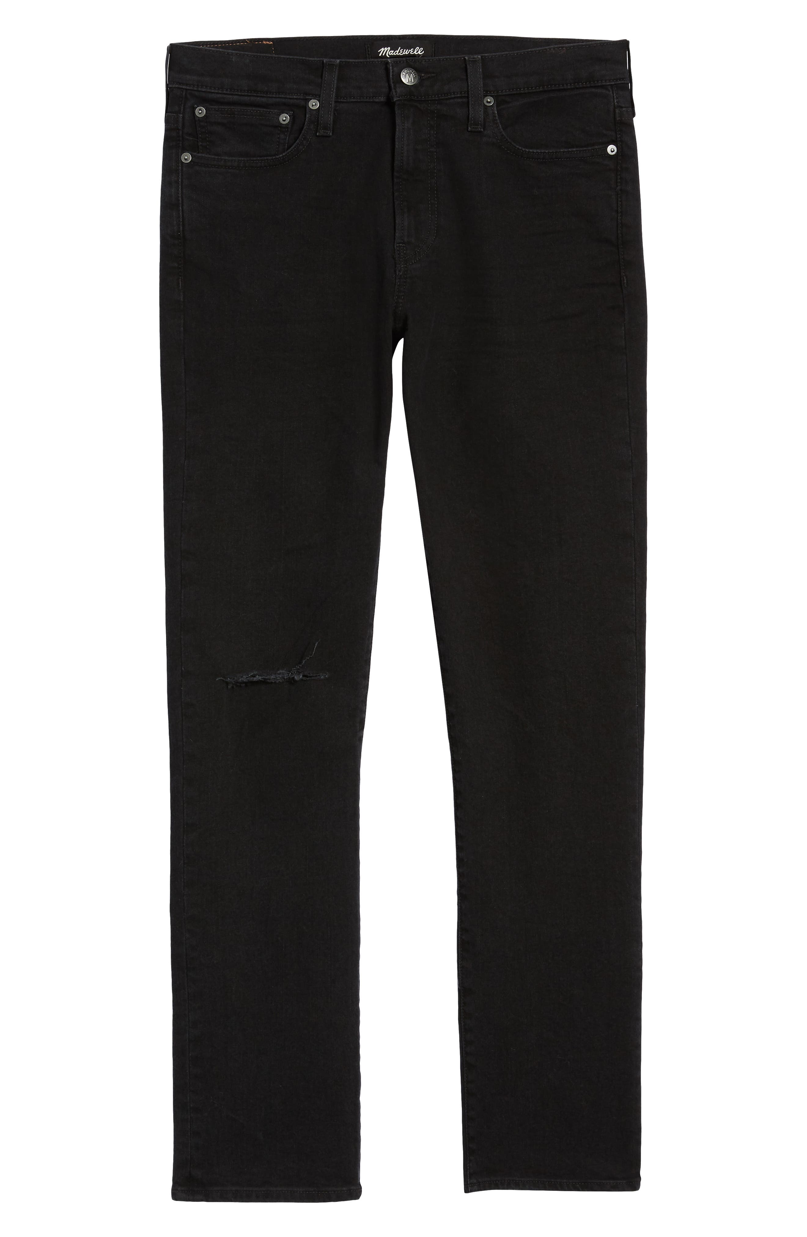 Ripped Skinny Fit Jeans,                             Alternate thumbnail 7, color,                             BROOKLYN WASH
