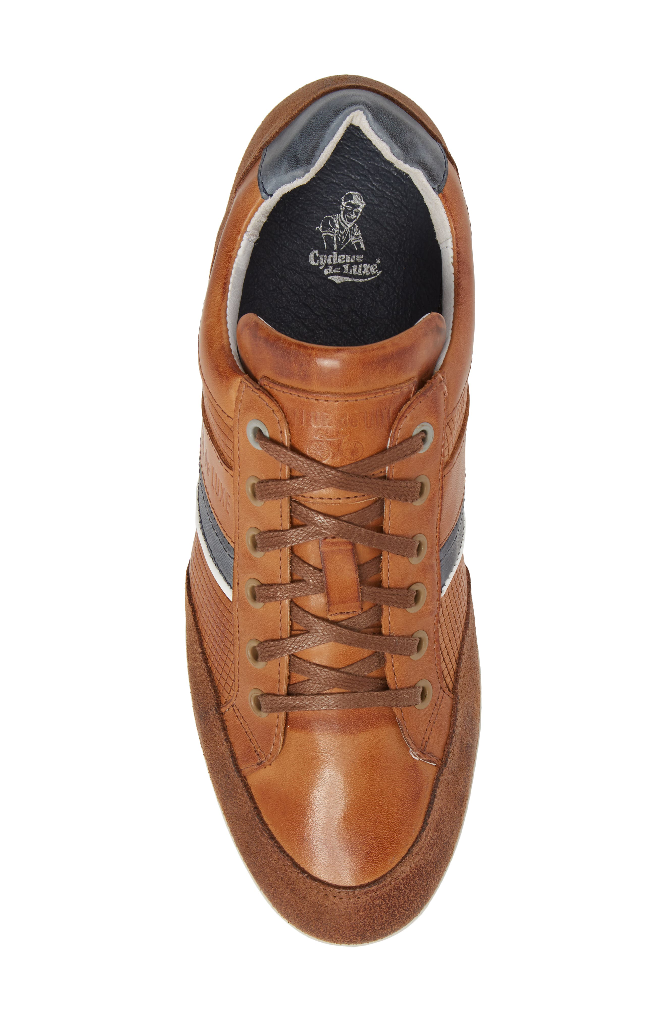 Bahamas Low Top Sneaker,                             Alternate thumbnail 5, color,                             COGNAC LEATHER