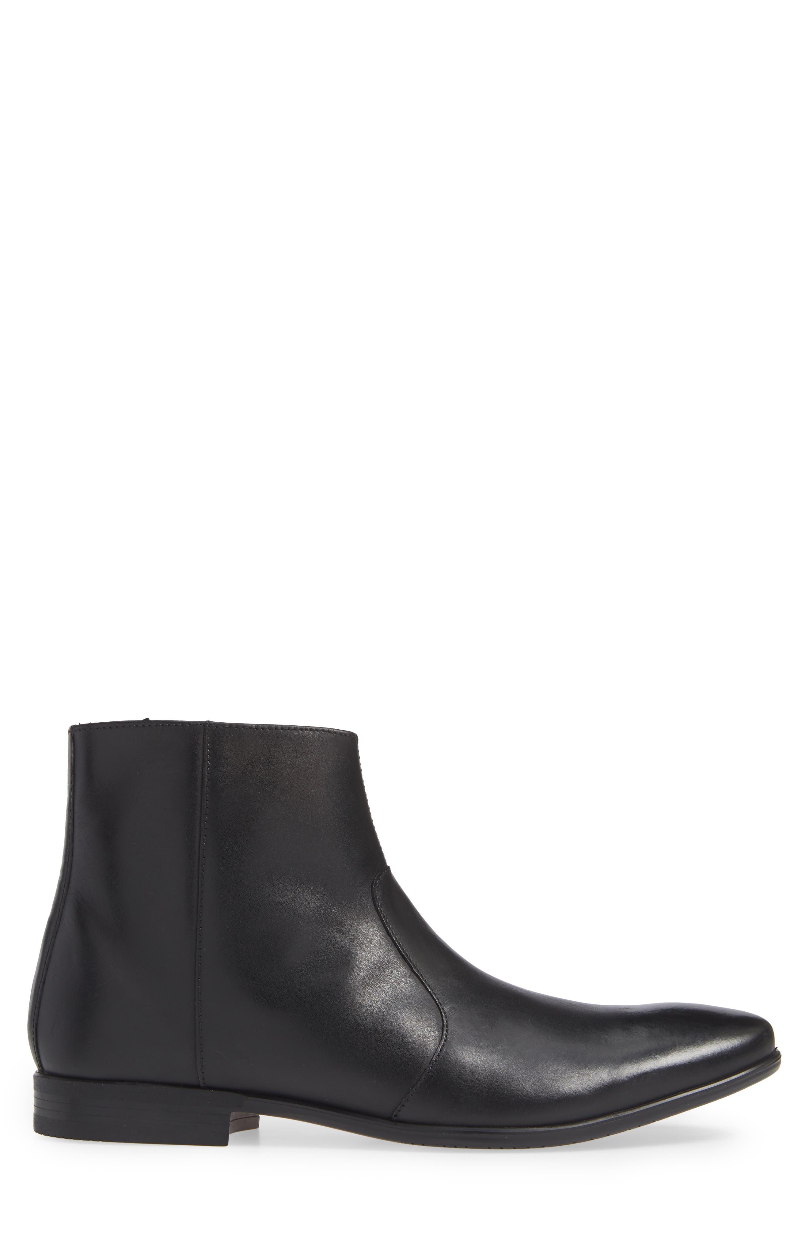 Zip Boot,                             Alternate thumbnail 3, color,                             BLACK