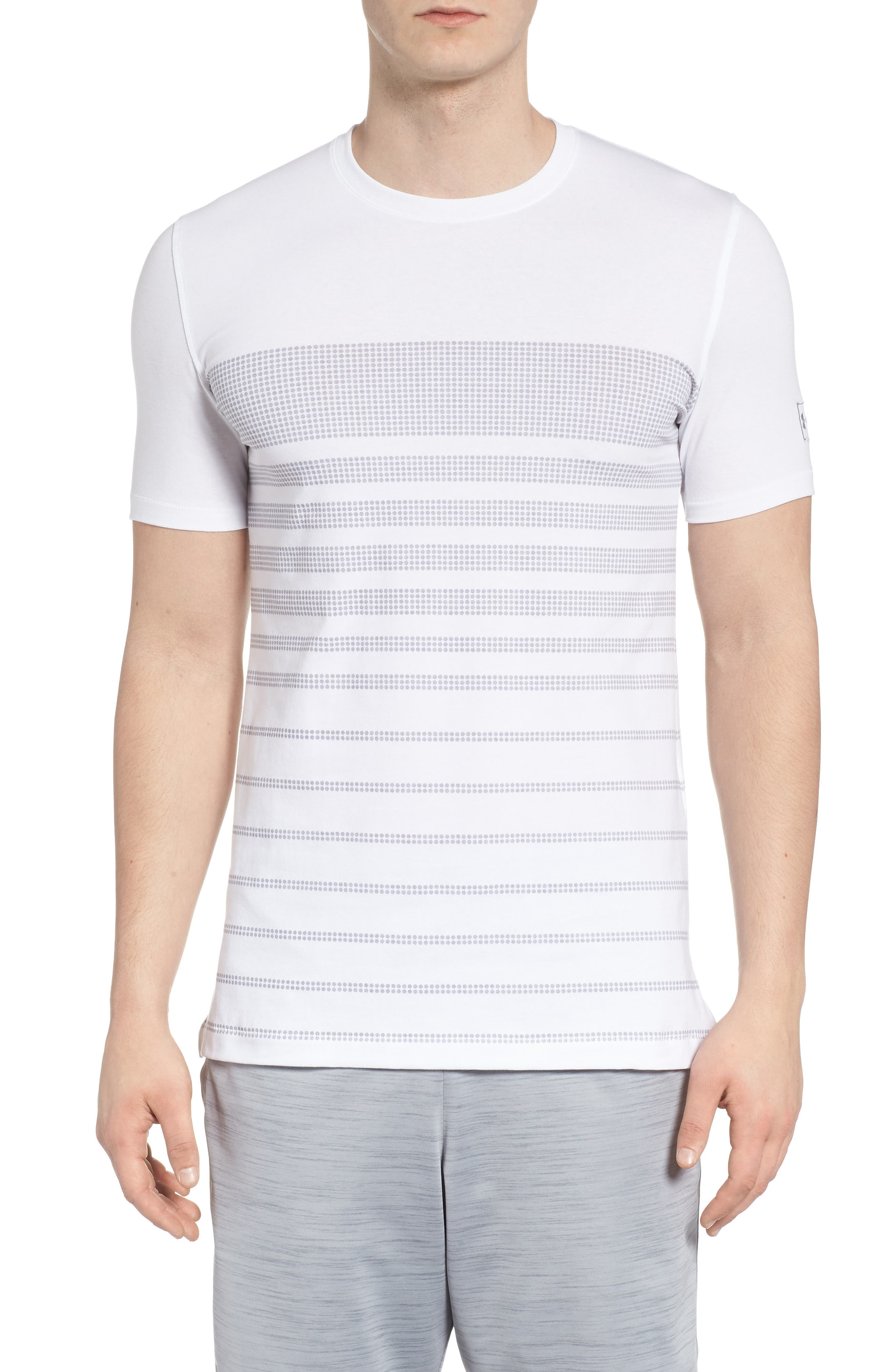 Sportstyle Crewneck T-Shirt,                         Main,                         color, WHITE / OVERCAST GREH
