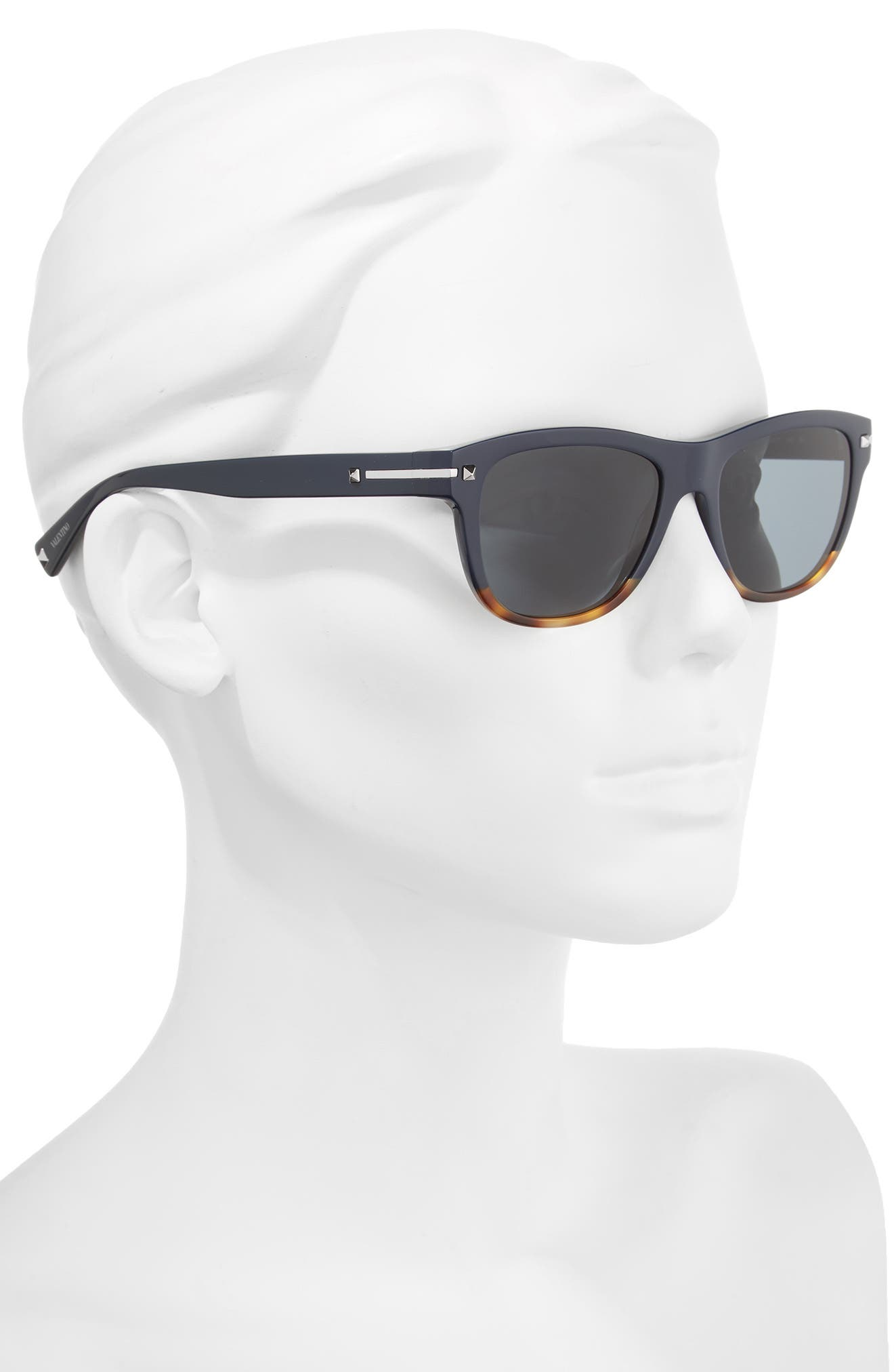 53mm Rectangle Sunglasses,                             Alternate thumbnail 2, color,