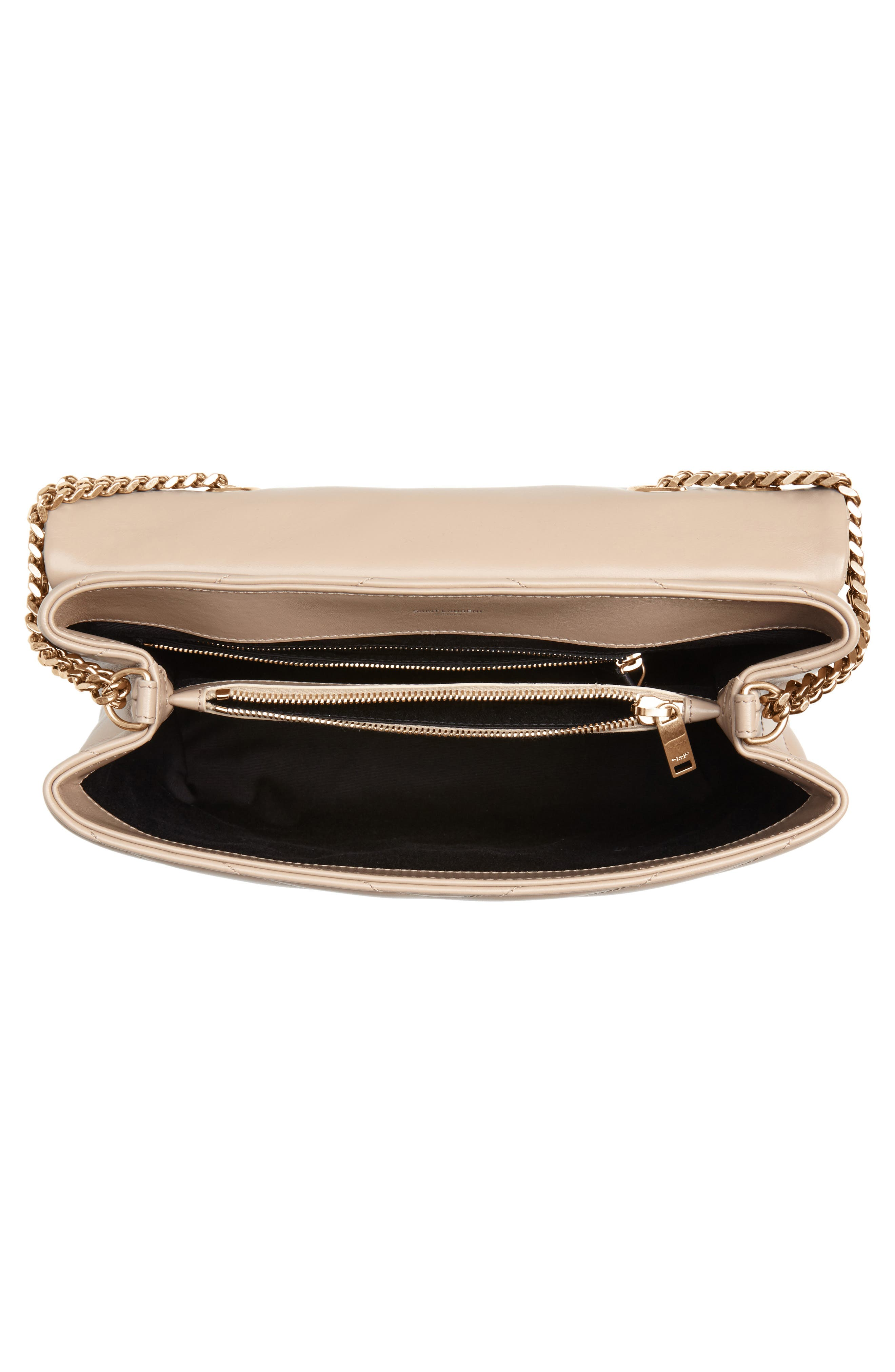 Medium Loulou Matelassé Calfskin Leather Shoulder Bag,                             Alternate thumbnail 4, color,                             LIGHT NATURAL