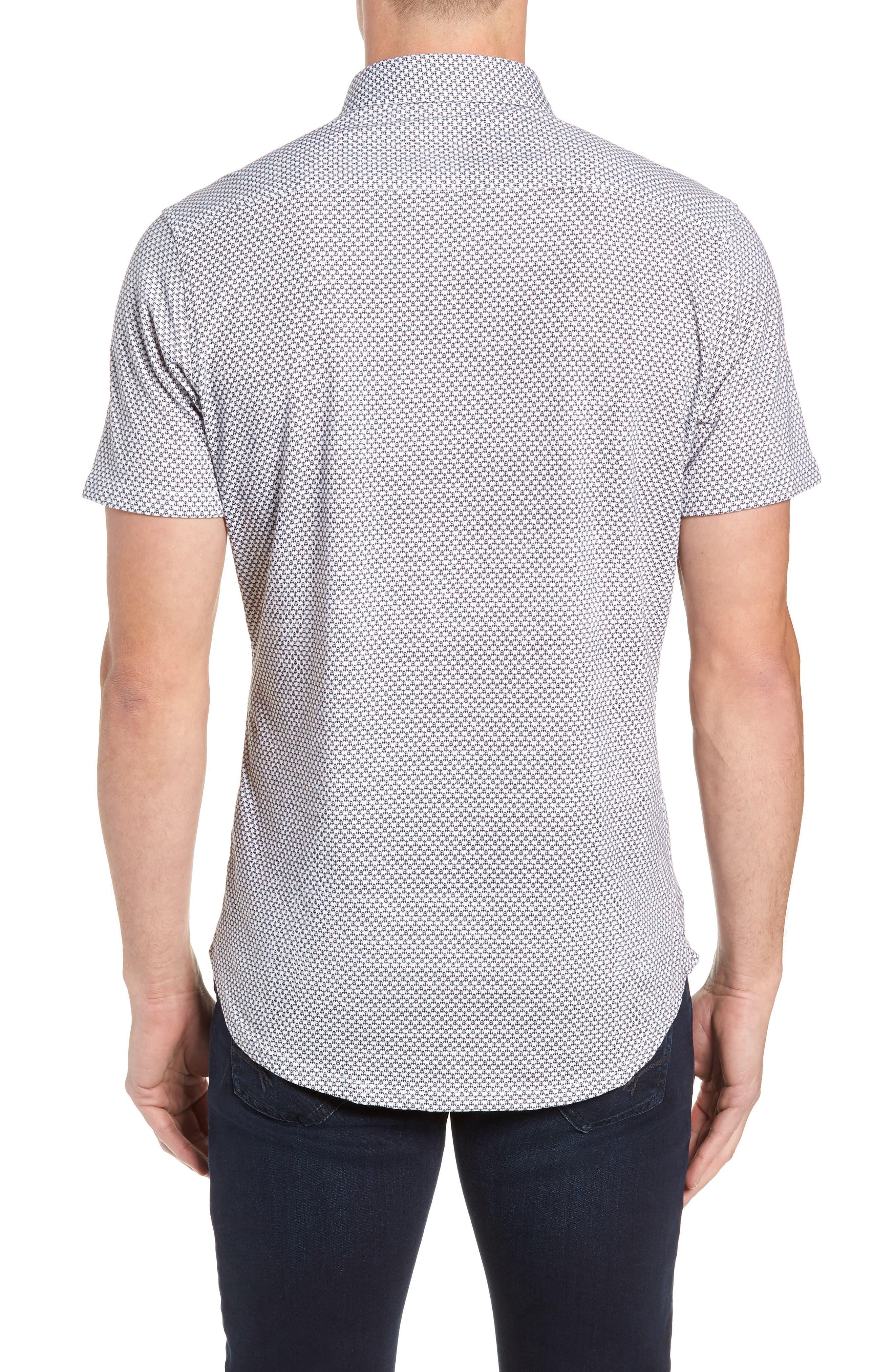Regular Fit Sport Shirt,                             Alternate thumbnail 3, color,                             WHITE