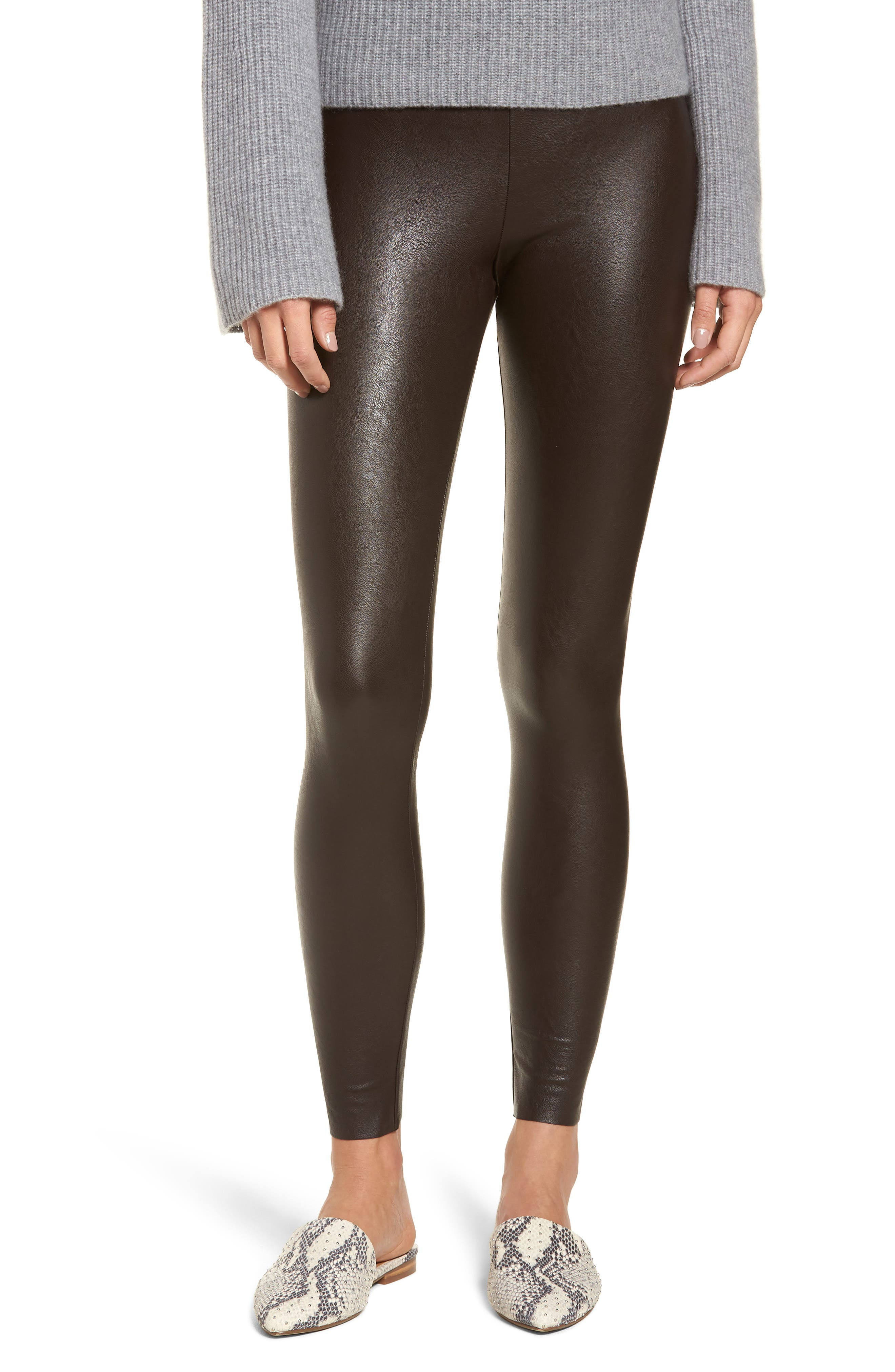 Perfect Control Faux Leather Leggings,                             Main thumbnail 1, color,                             201
