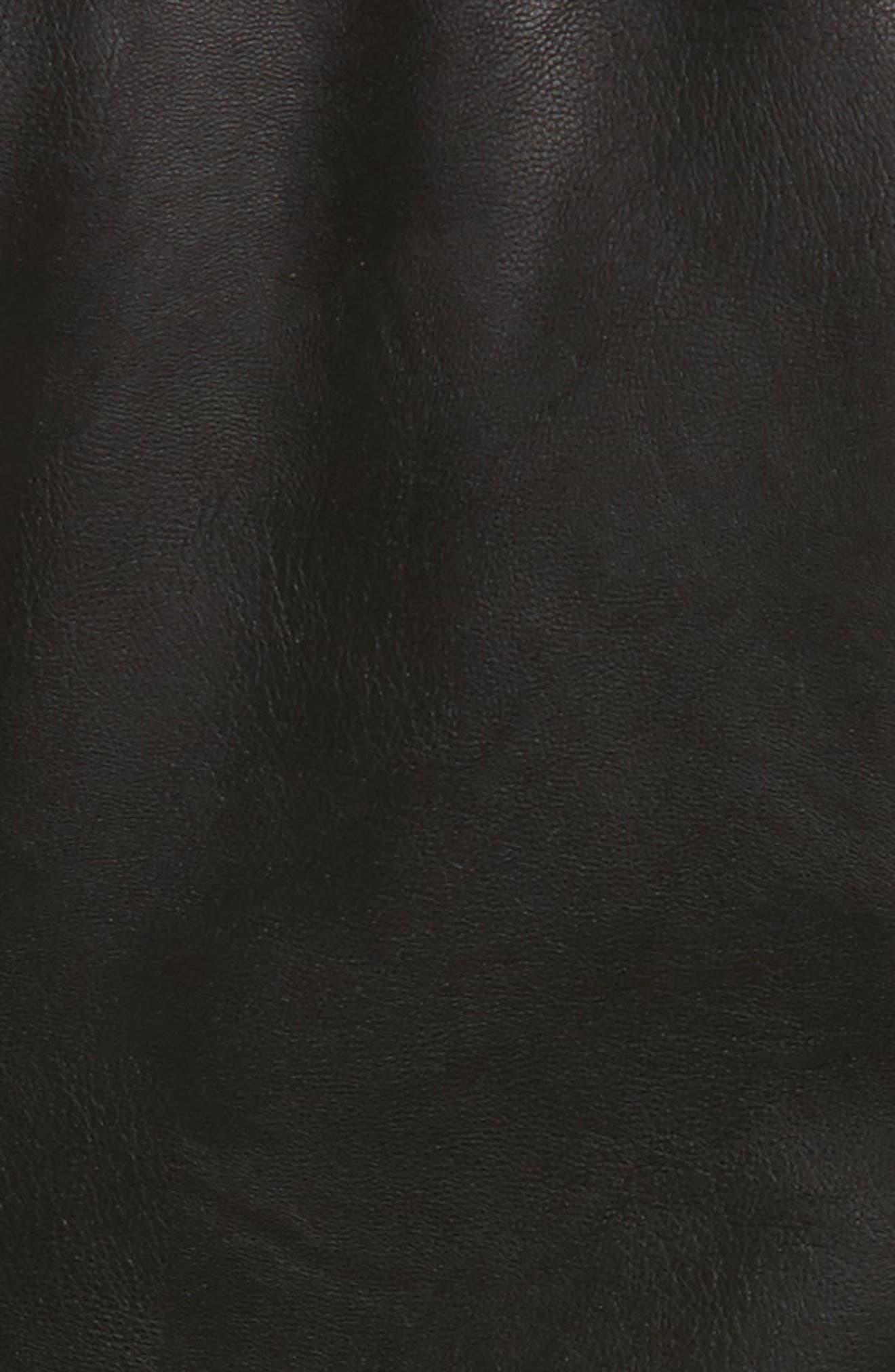 Faux Leather Jacket with Detachable Faux Fur,                             Alternate thumbnail 6, color,