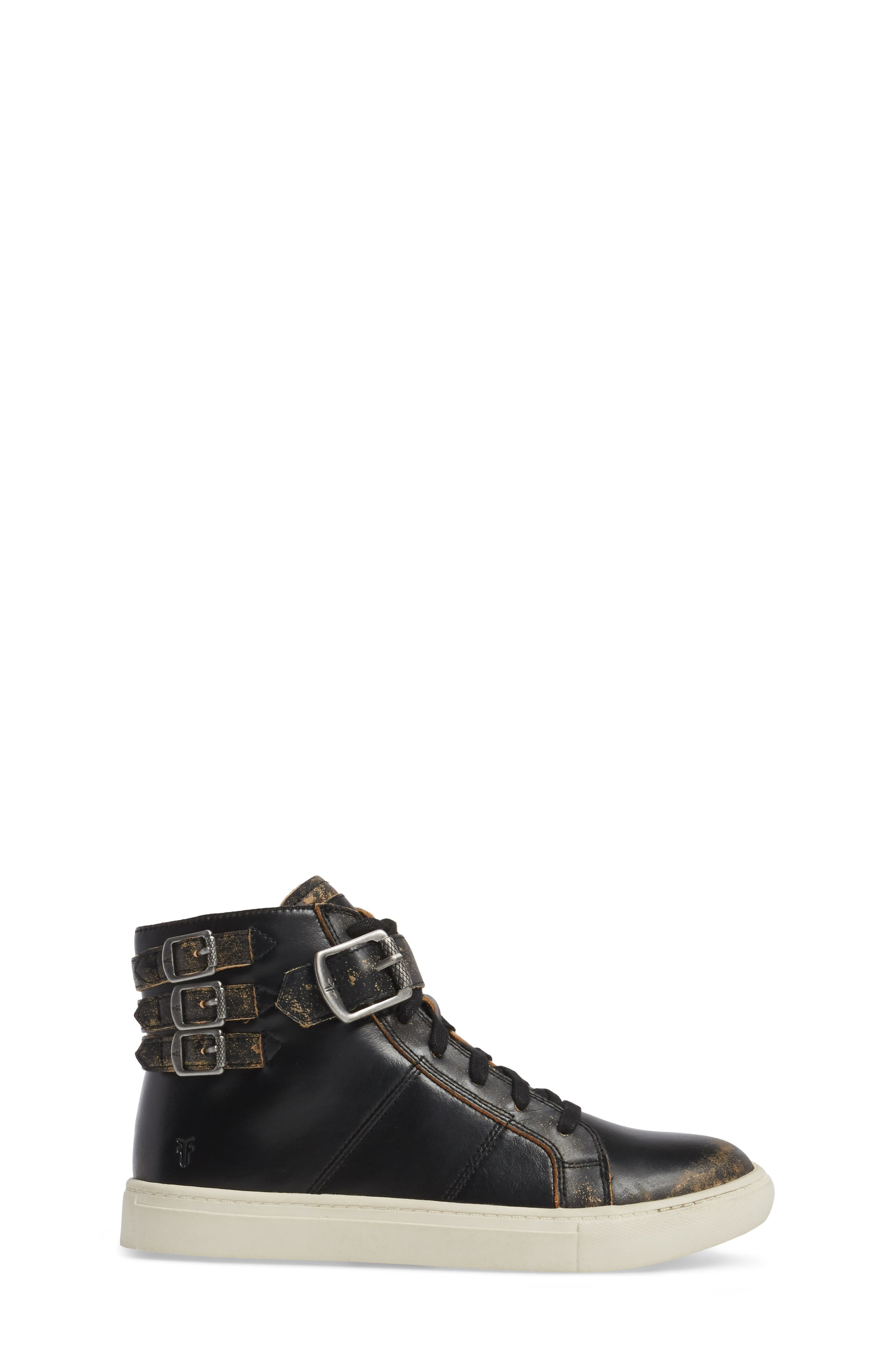 Dylan Buckle Strap High-Top Sneaker,                             Alternate thumbnail 3, color,                             204