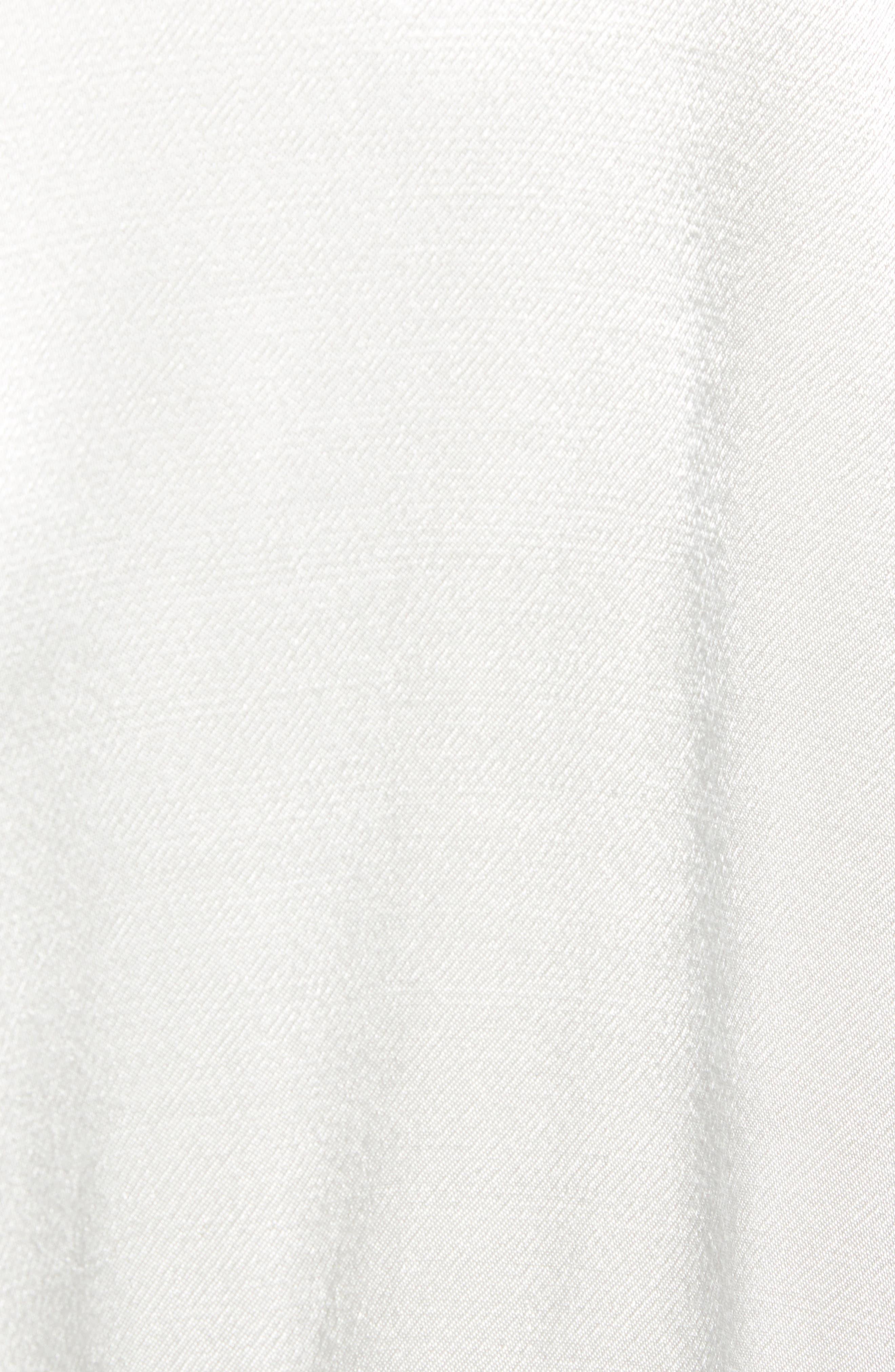 Drape Front Satin Trench Coat,                             Alternate thumbnail 7, color,                             FOG