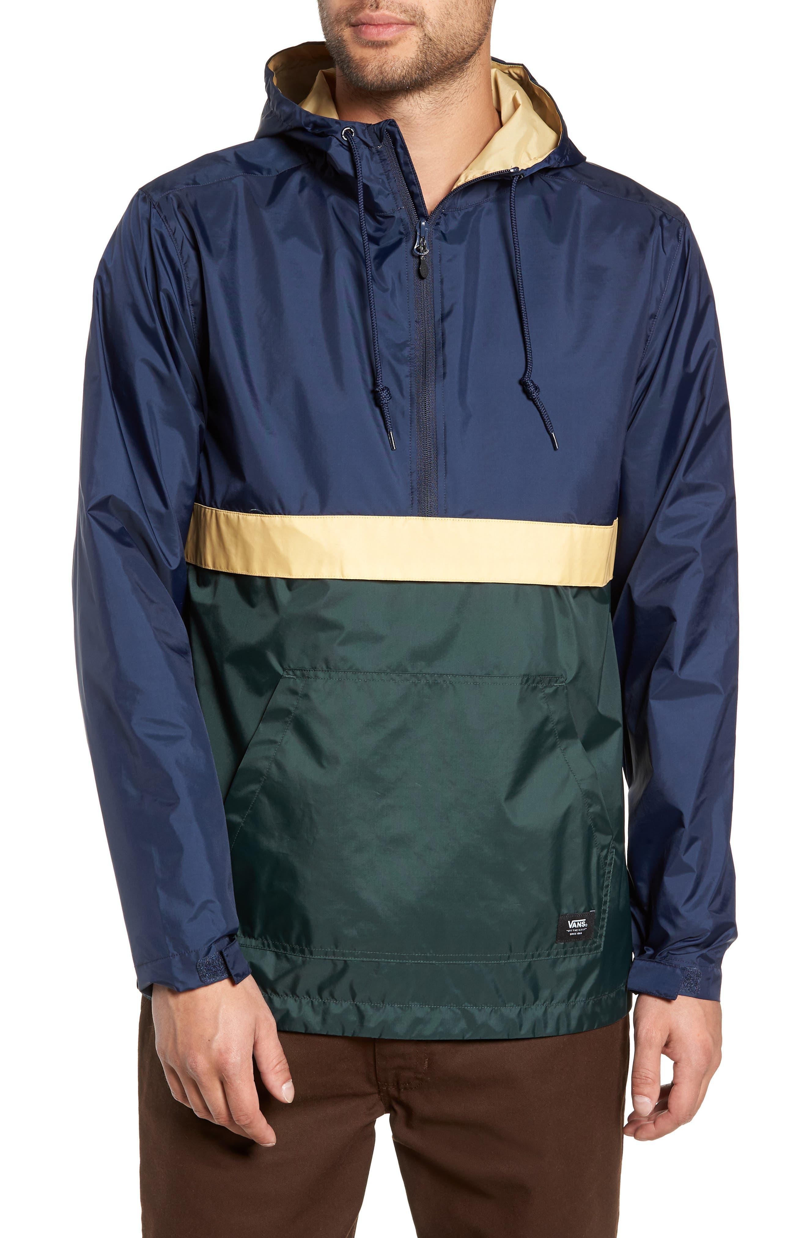 Stoneridge Anorak,                         Main,                         color, DARKEST SPRUCE/ DRESS BLUES