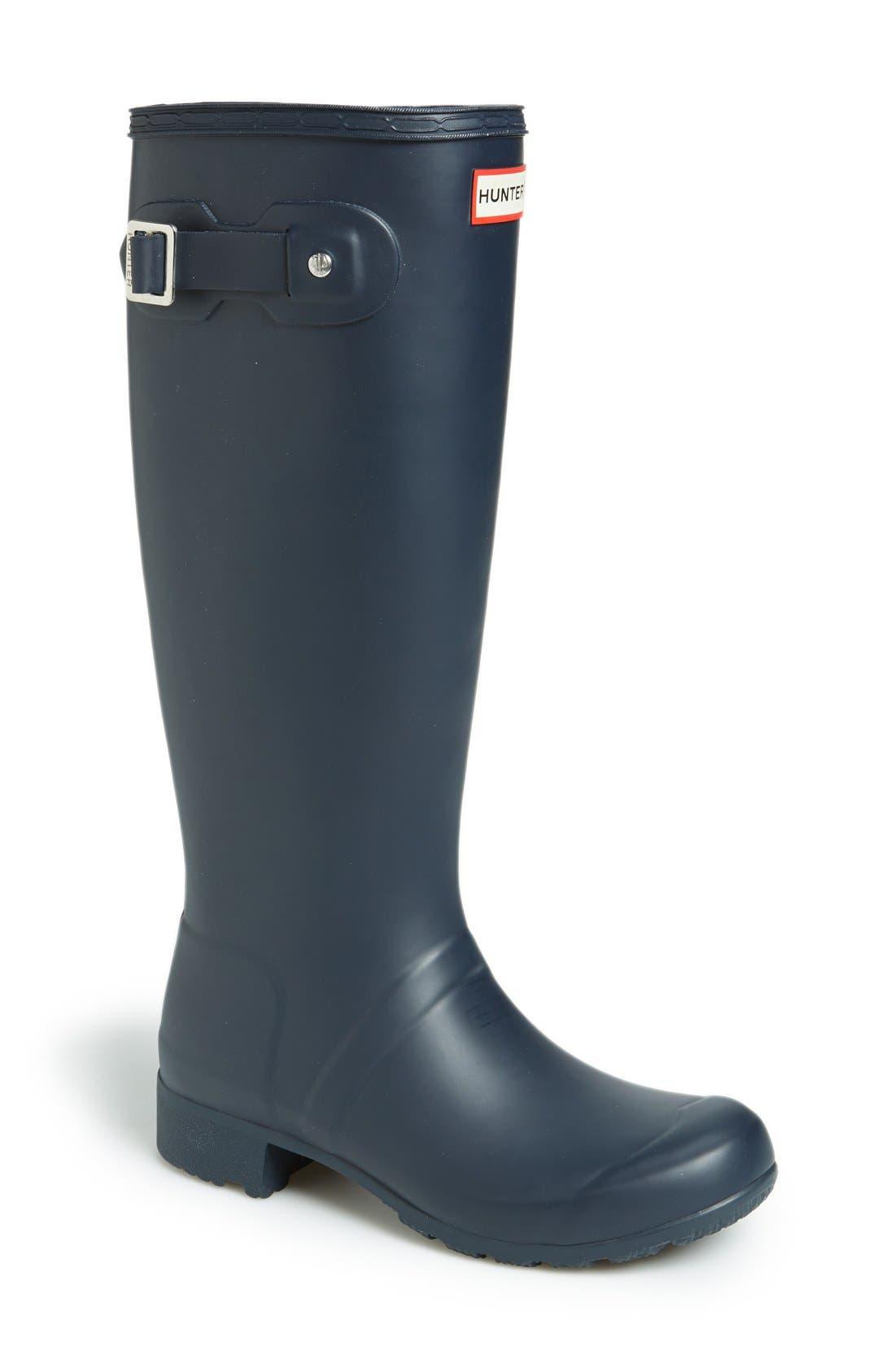 Hunter Tour Packable Waterproof Rain Boot, Blue