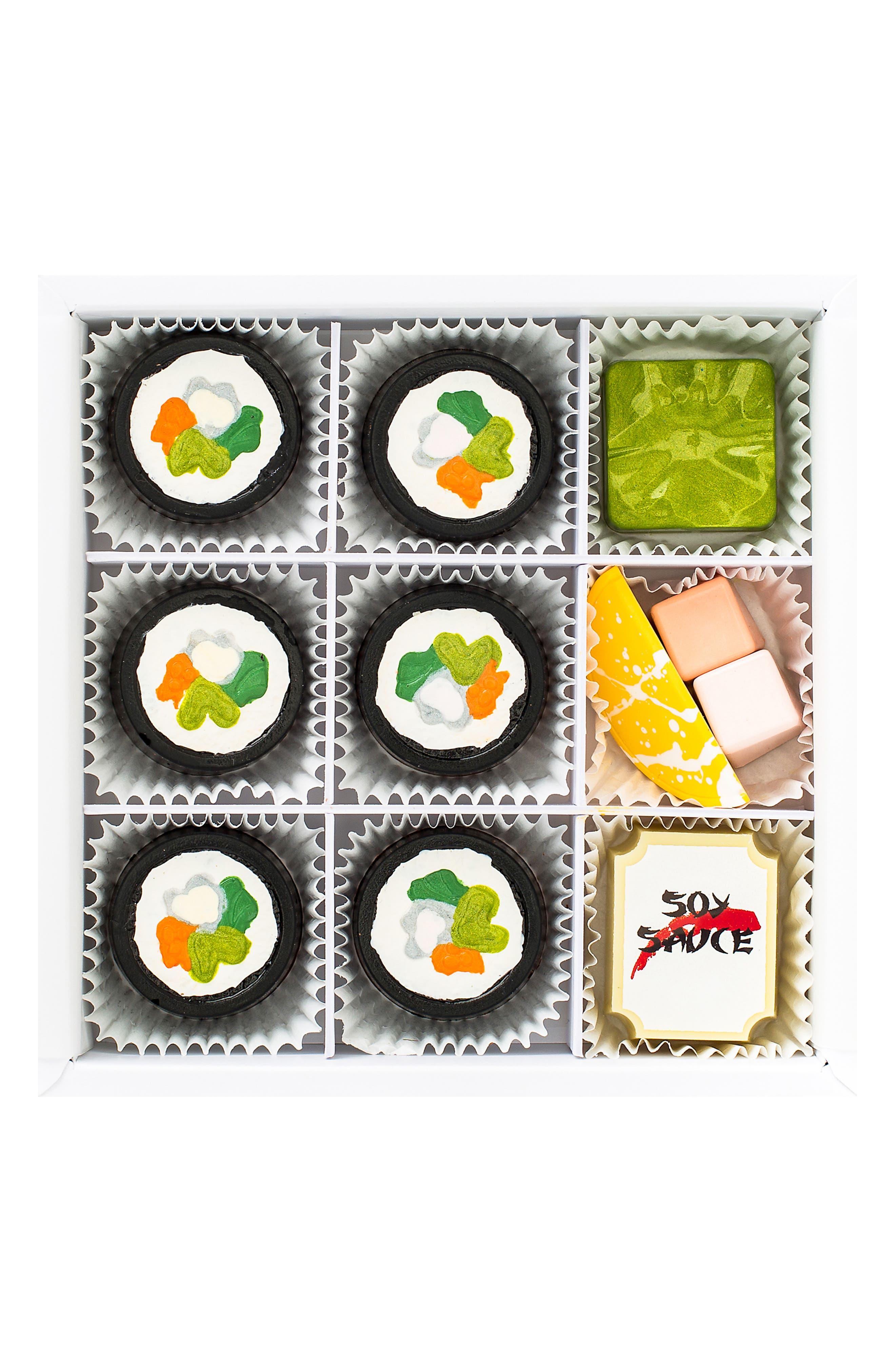 Sushi 9-Piece Chocolate Set,                             Main thumbnail 1, color,                             WHITE