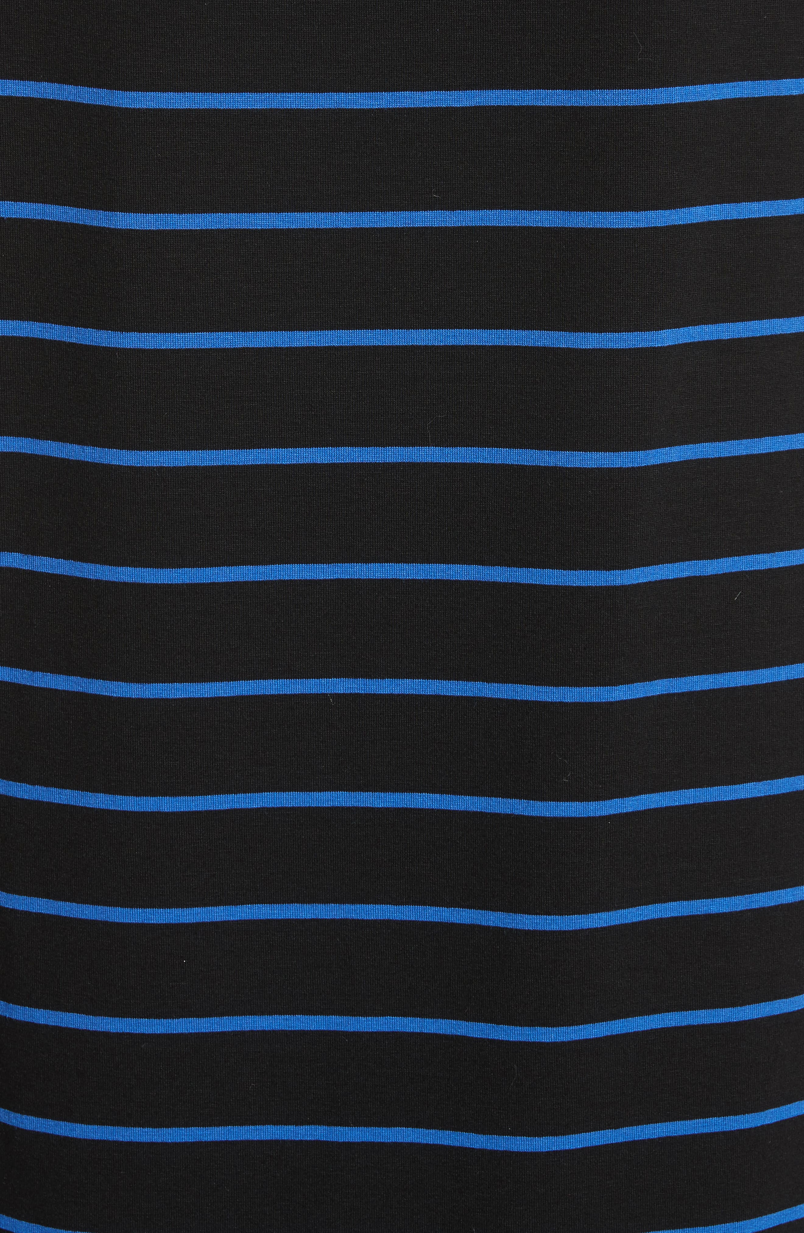 Yarn Dyed Stripe Jersey Top,                             Alternate thumbnail 5, color,                             001