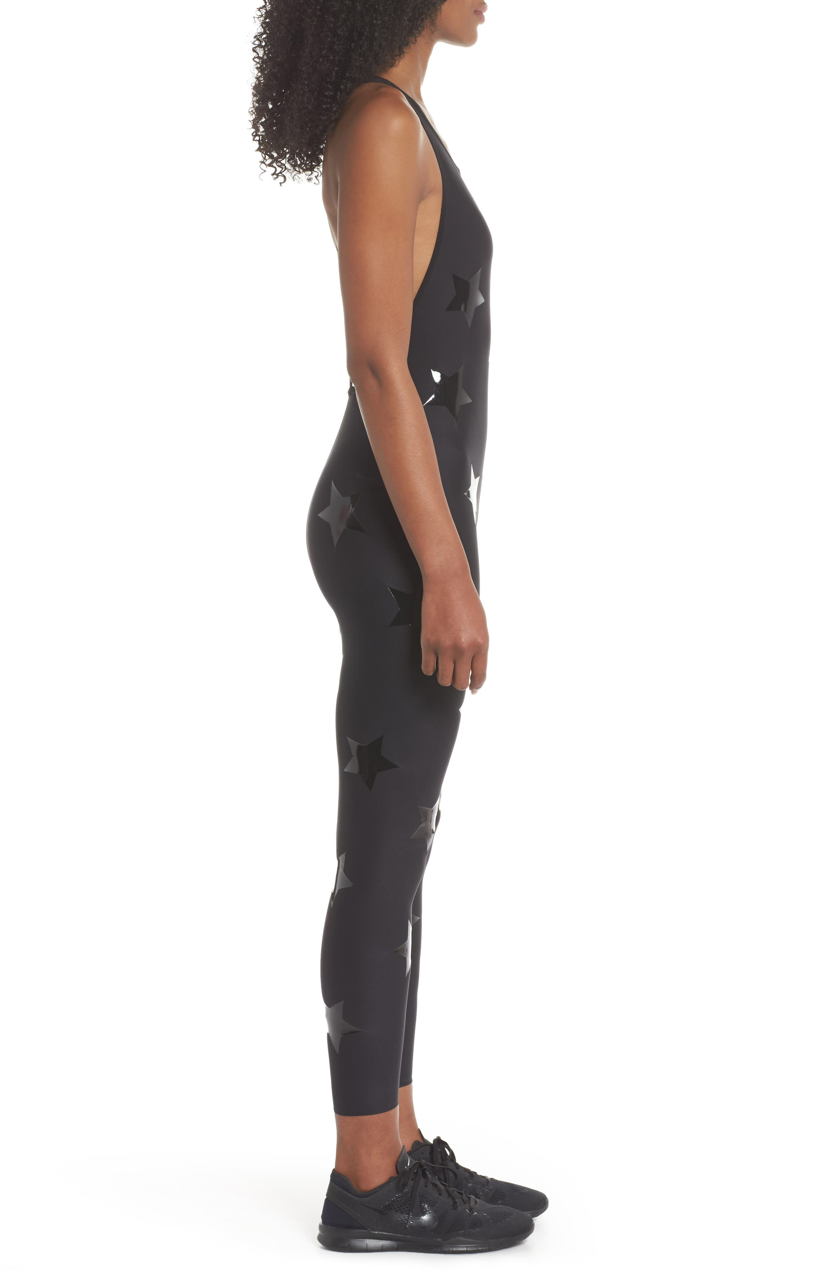 Motion Lux Knockout Unitard,                             Alternate thumbnail 3, color,                             002