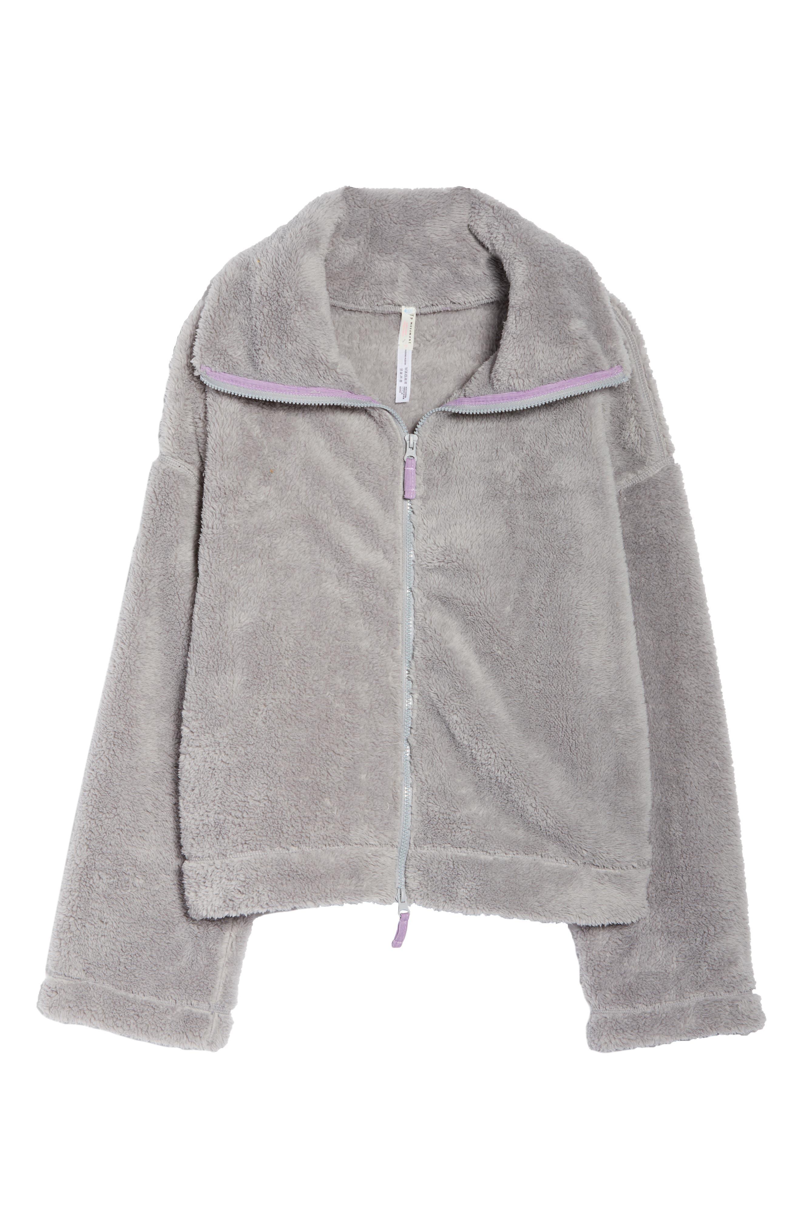 Dazed Fleece Jacket,                             Alternate thumbnail 7, color,                             GREY
