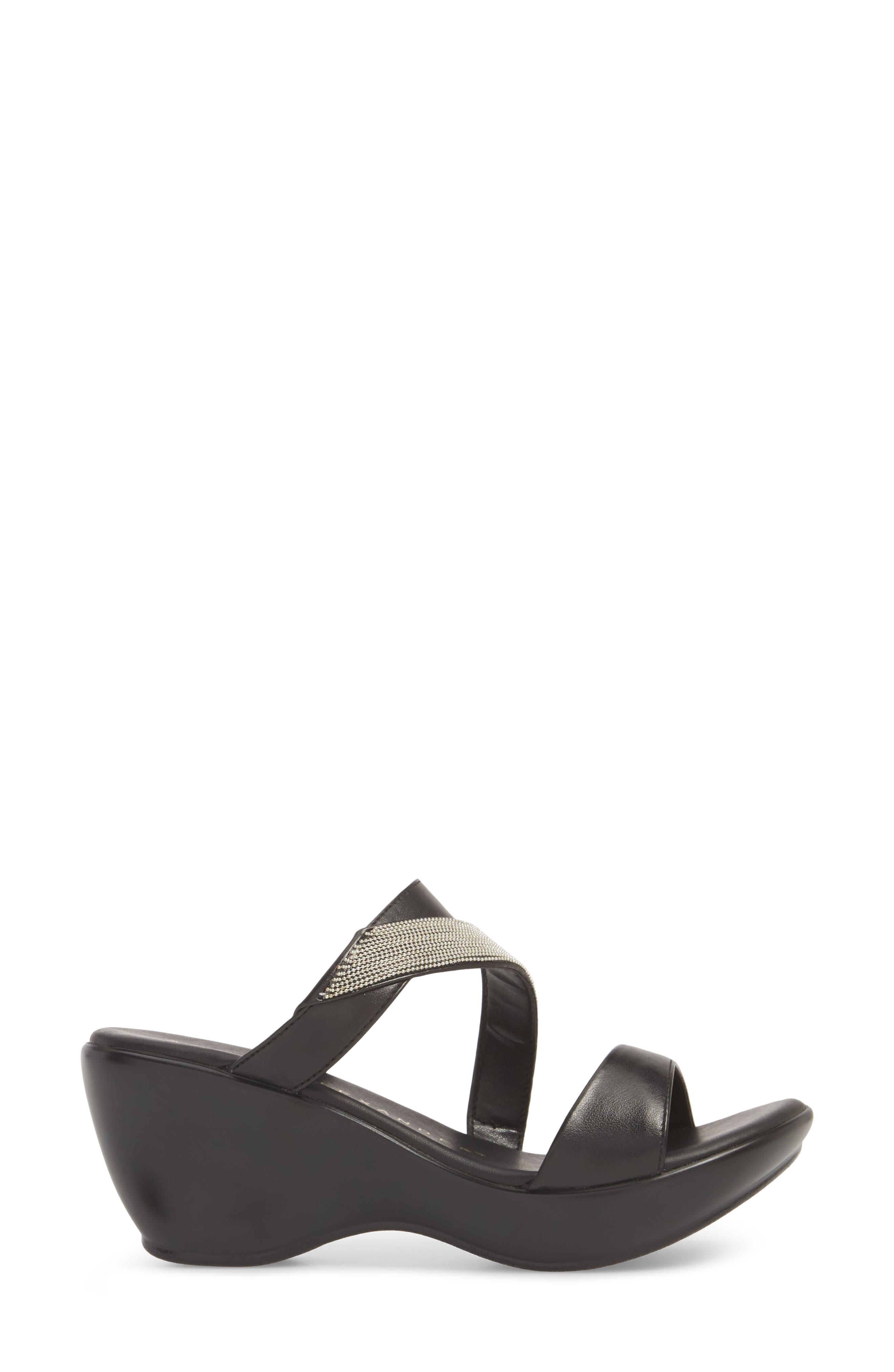 ATHENA ALEXANDER,                             Peyton Asymmetrical Slide Sandal,                             Alternate thumbnail 3, color,                             001