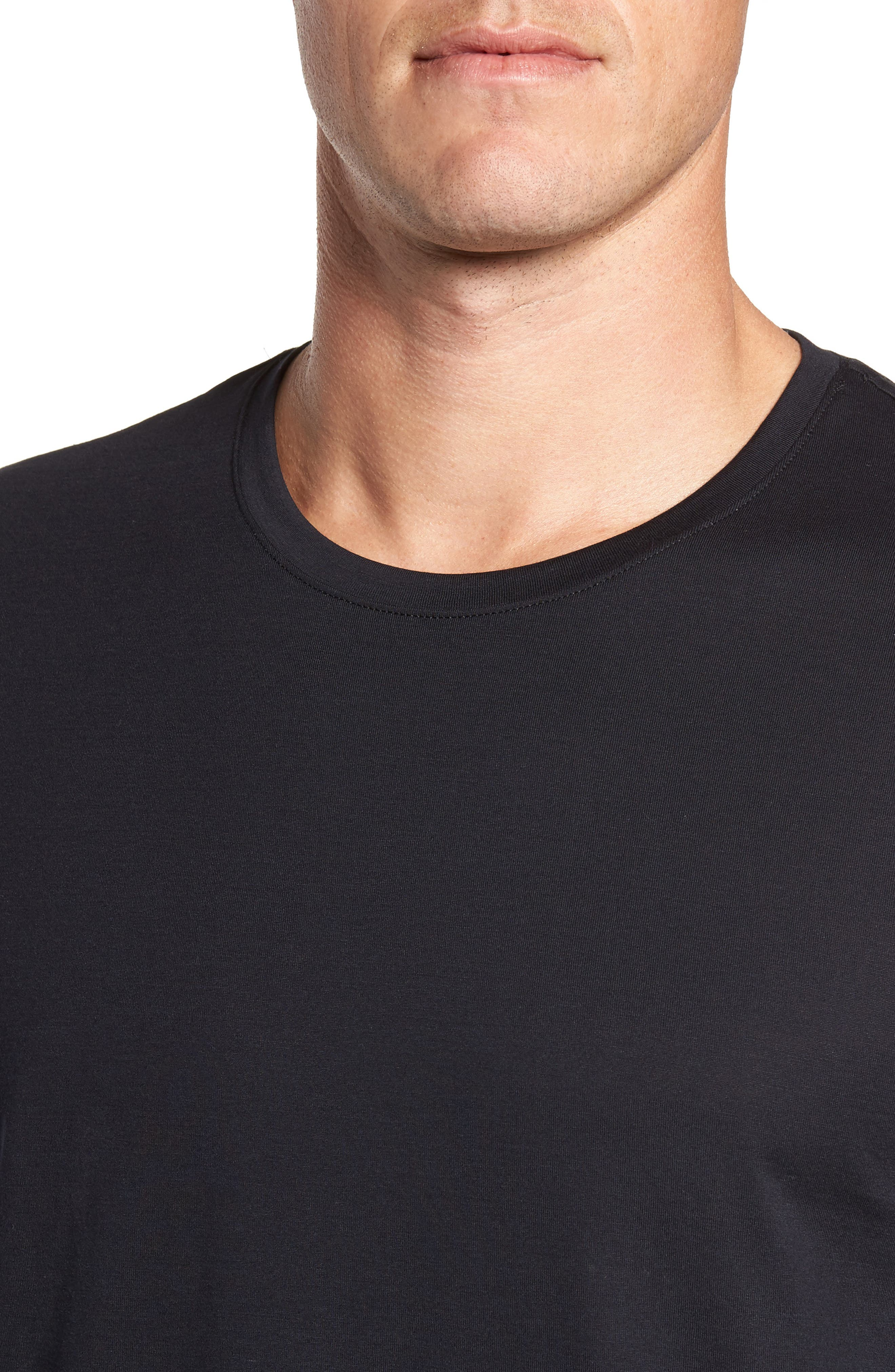 Night & Day Lounge T-Shirt,                             Alternate thumbnail 4, color,                             BLACK